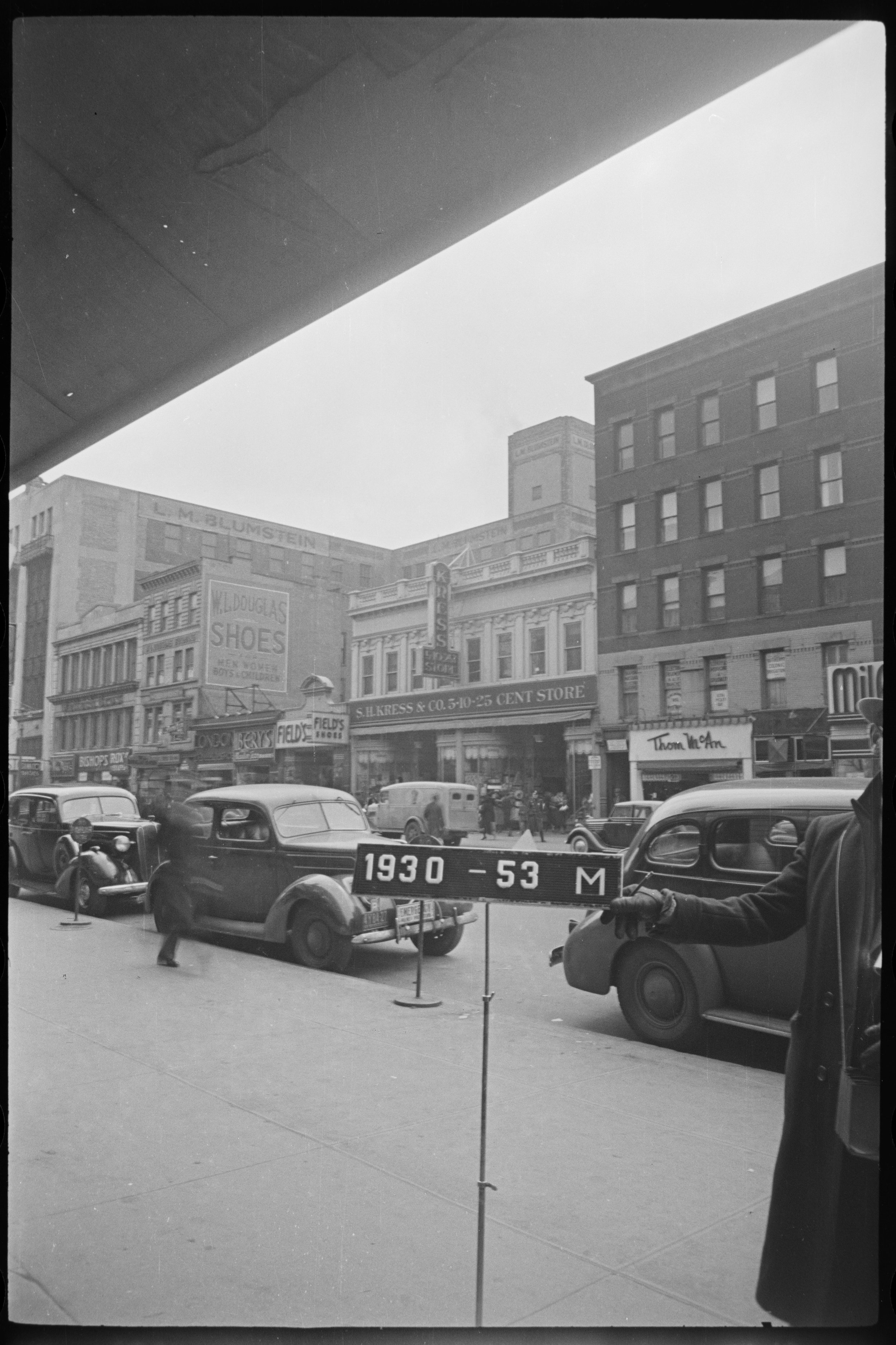 256 West 125 Street, ca. 1939. The 1935 riot was sparked by an incident at this Kress department store. Department of Finance Collection, NYC Municipal Archives.