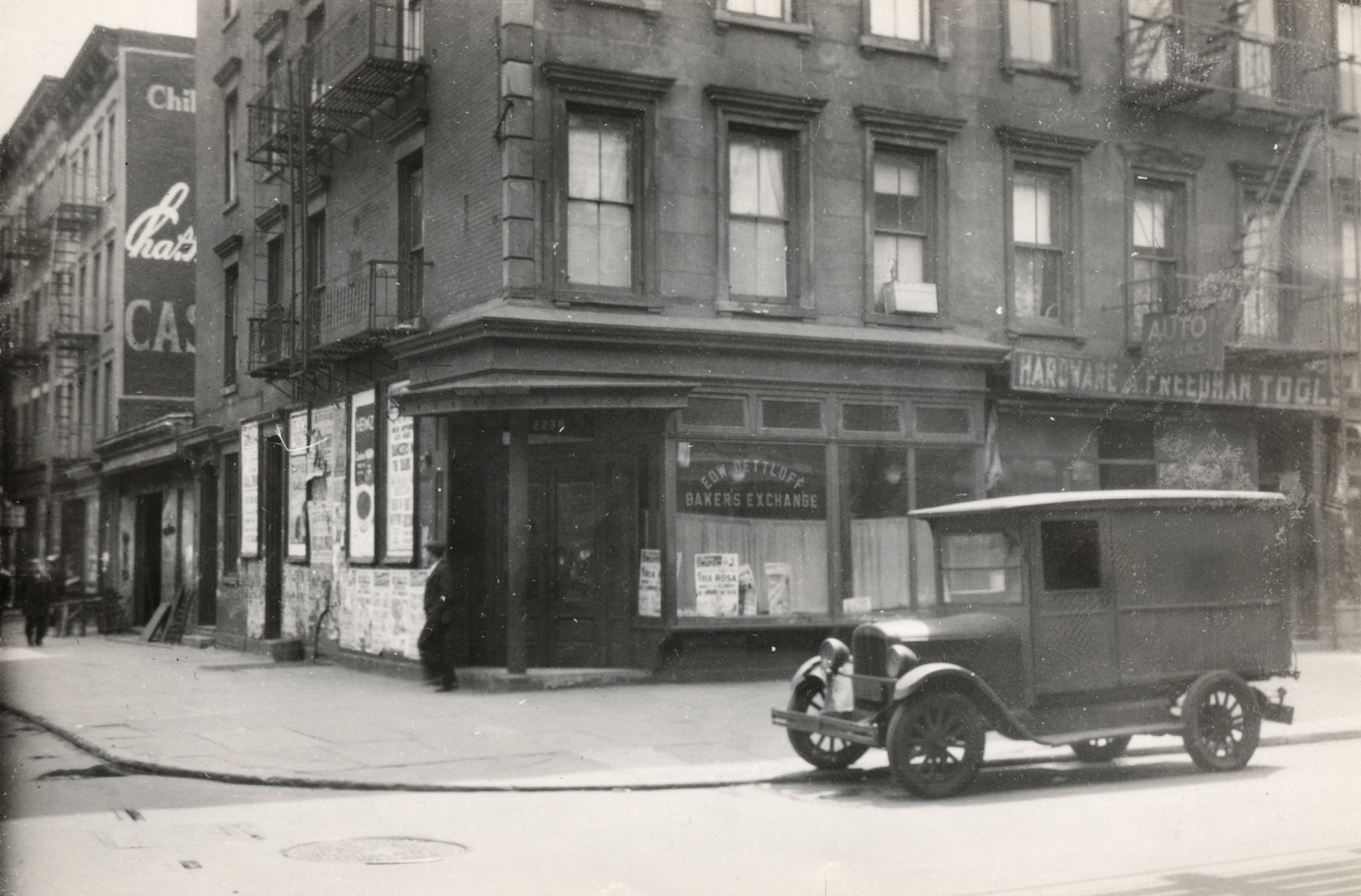 An April 13, 1932 raid on a speakeasy at 115th St. and Second Ave. housed in a store called Baker's Exchange. NYC Municipal Archives.