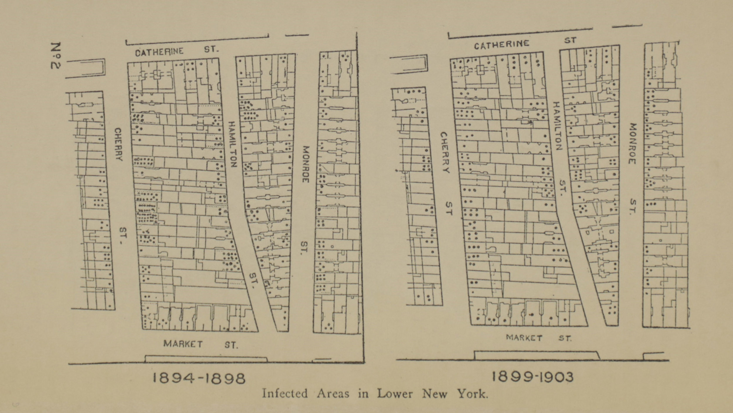 "Map of the ""Lung Block"" from  A Brief History of the Campaign Against Tuberculosis in New York City , Department of Health, 1908. NYC Municipal Library."