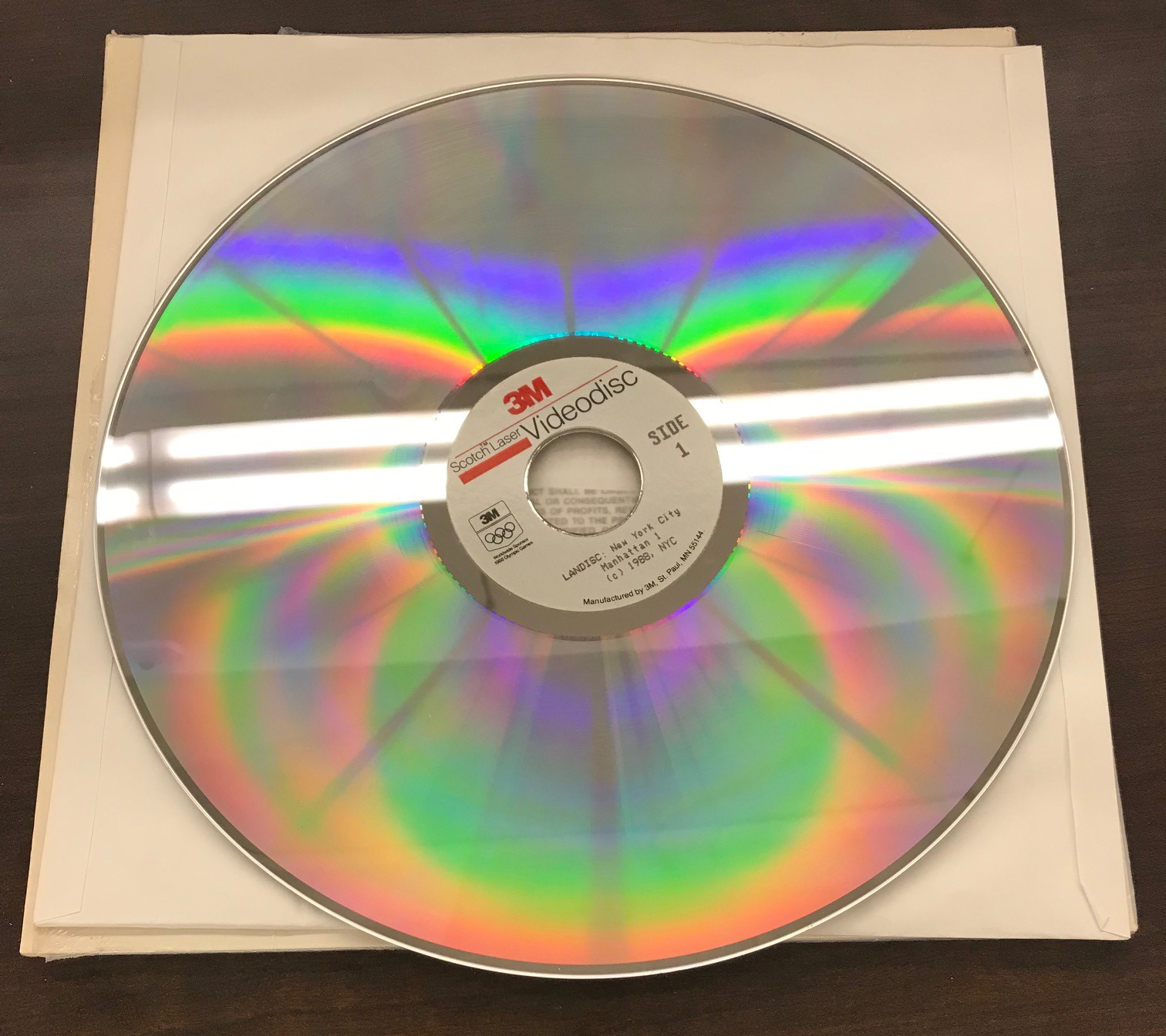 A 12-inch Laser Video Disk containing photographs of Manhattan from the 1980s Tax Photo project.