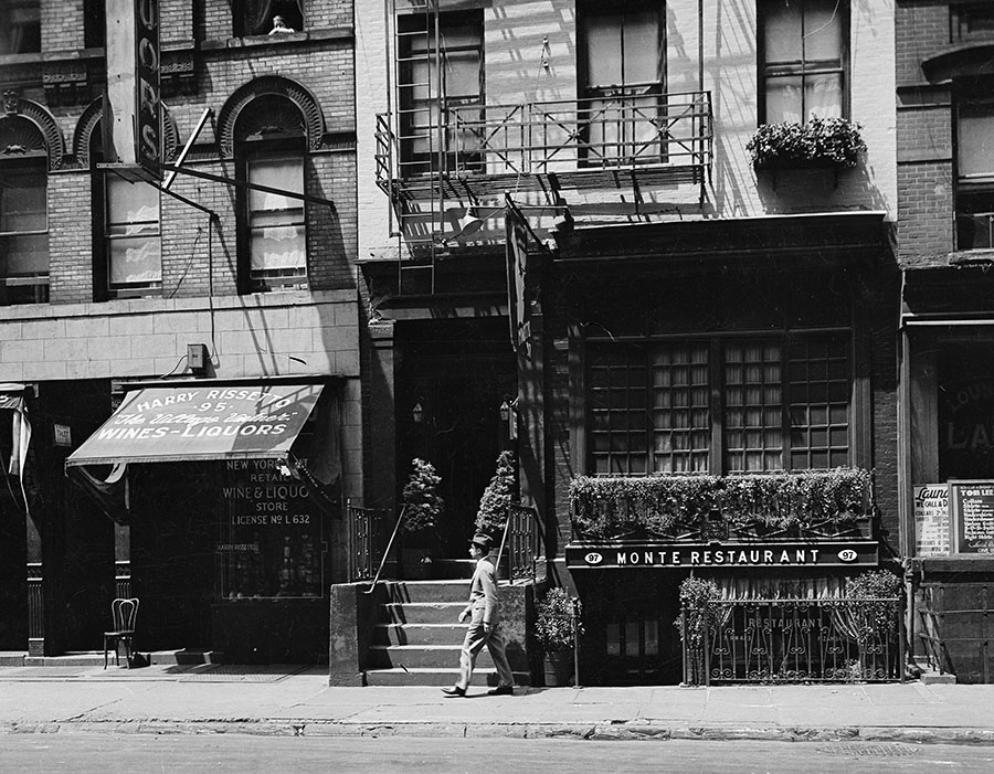 Montes Restaurant, 97 MacDougal Street. Date: 1937. Photographer: Unknown. WPA-FWP Collection, neg. 578a. NYC Municipal Archives.