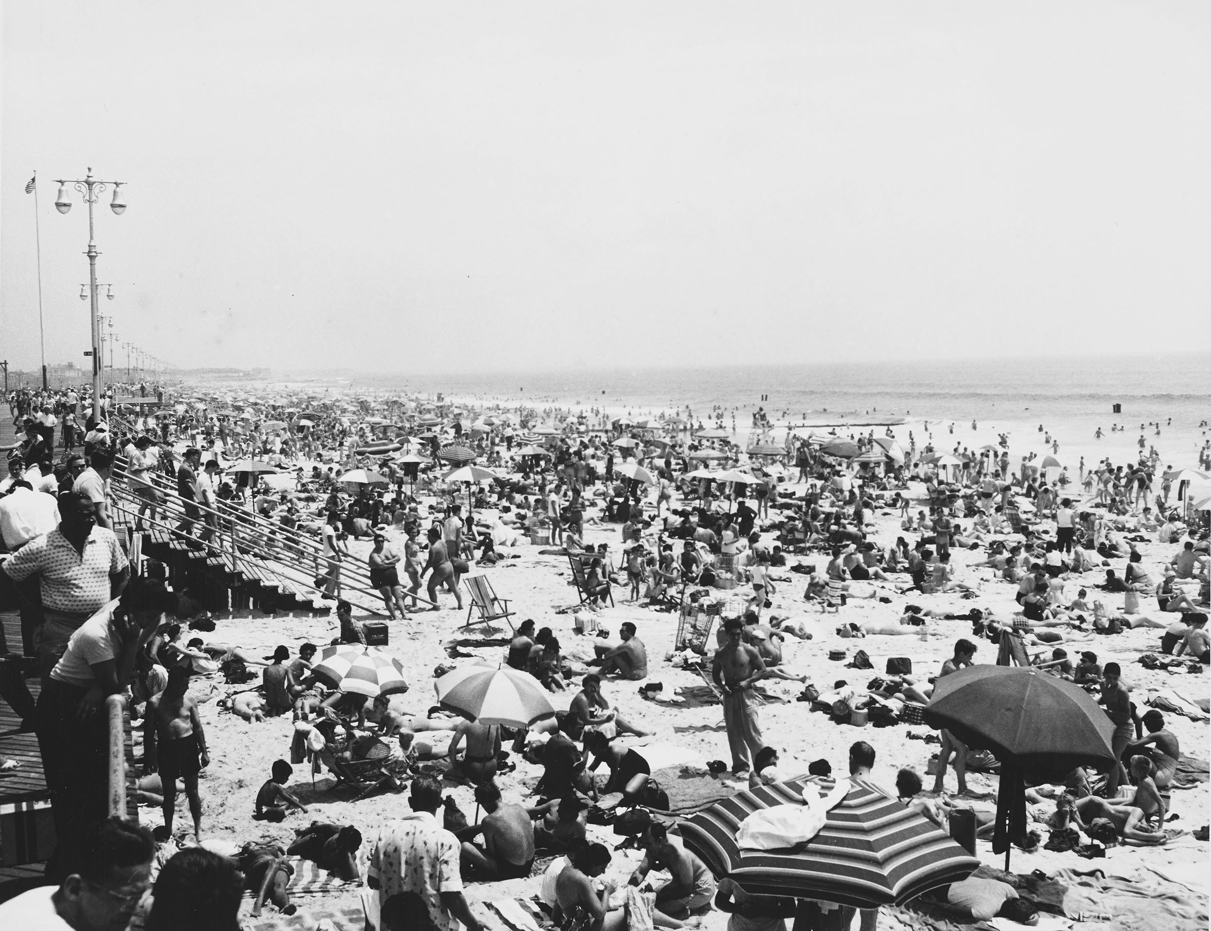 Coney Island Beach, Brooklyn: Typical mob scene, n.d. NYC Municipal Archives Collection.