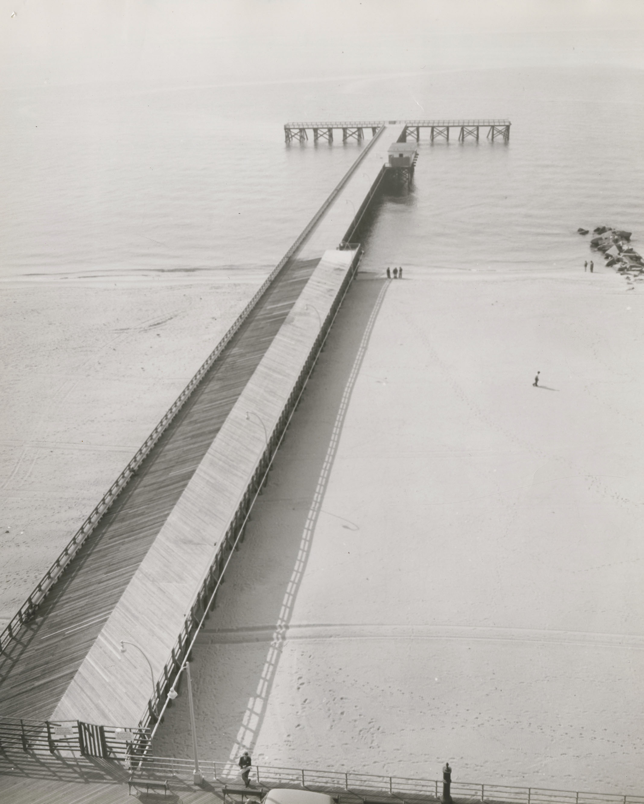 Steeplechase Pier at Coney Island in Brooklyn , 1958. Mayor Wagner Collection, NYC Municipal Archives.
