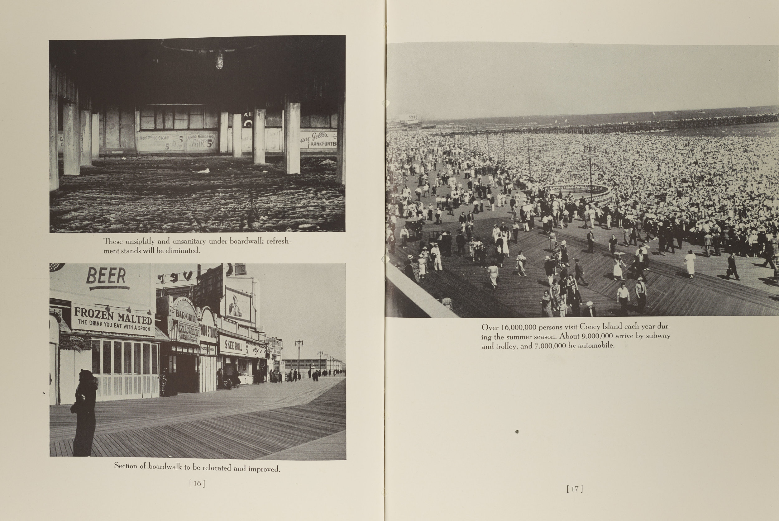 Report on Coney Island Improvements, 1939. NYC Municipal Library.