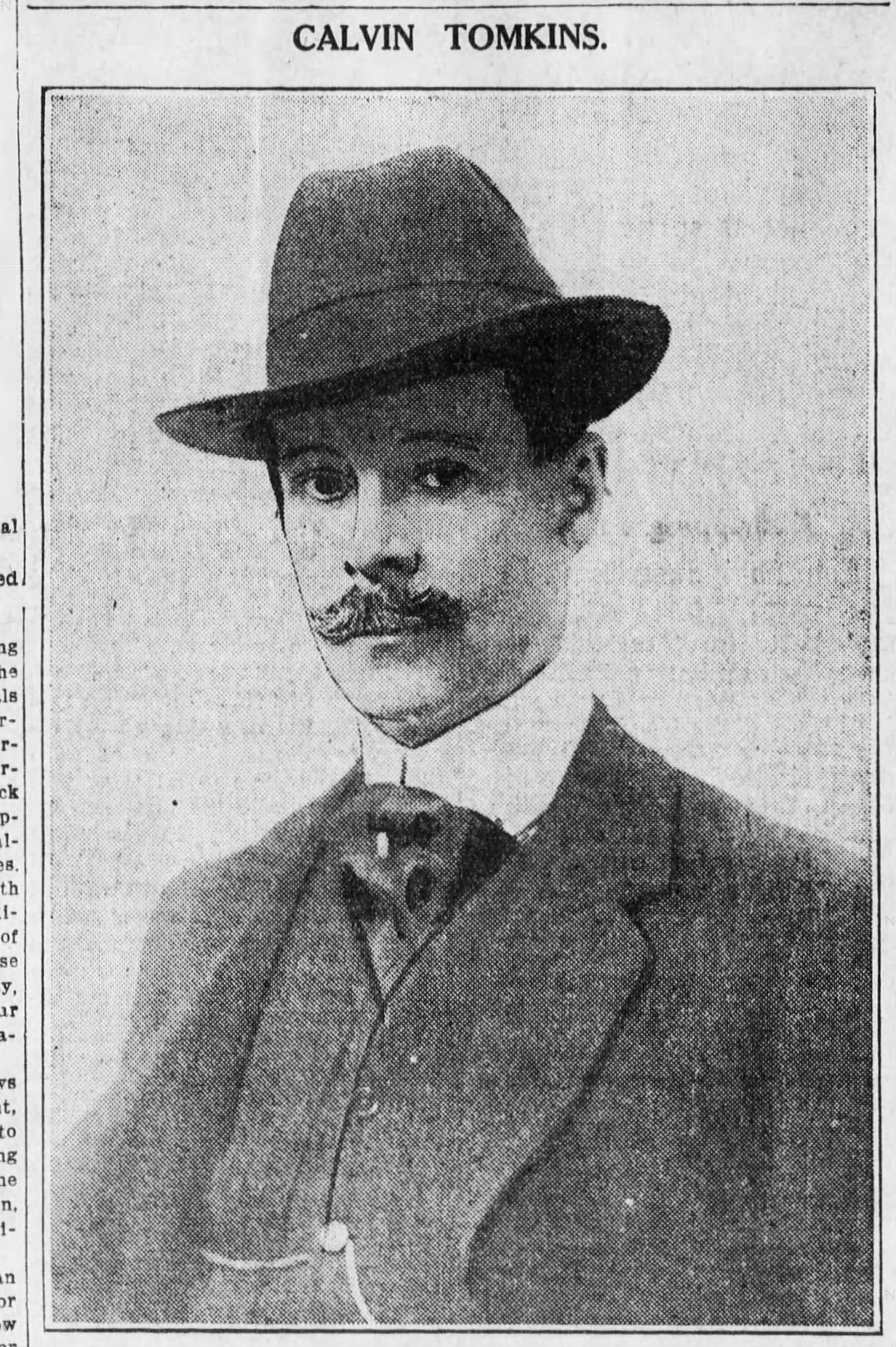 Calvin Tomkins, Commissioner of Docks,  Brooklyn Daily Eagle , June 21, 1911.