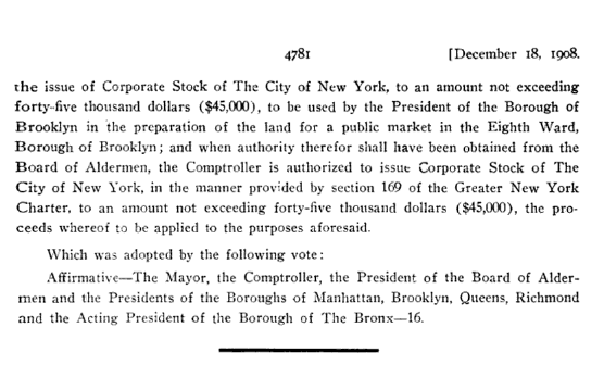 Corporate Stock Request and Approval, Department of Finance, Comptroller's Office, 1908,  NYC Municipal Library