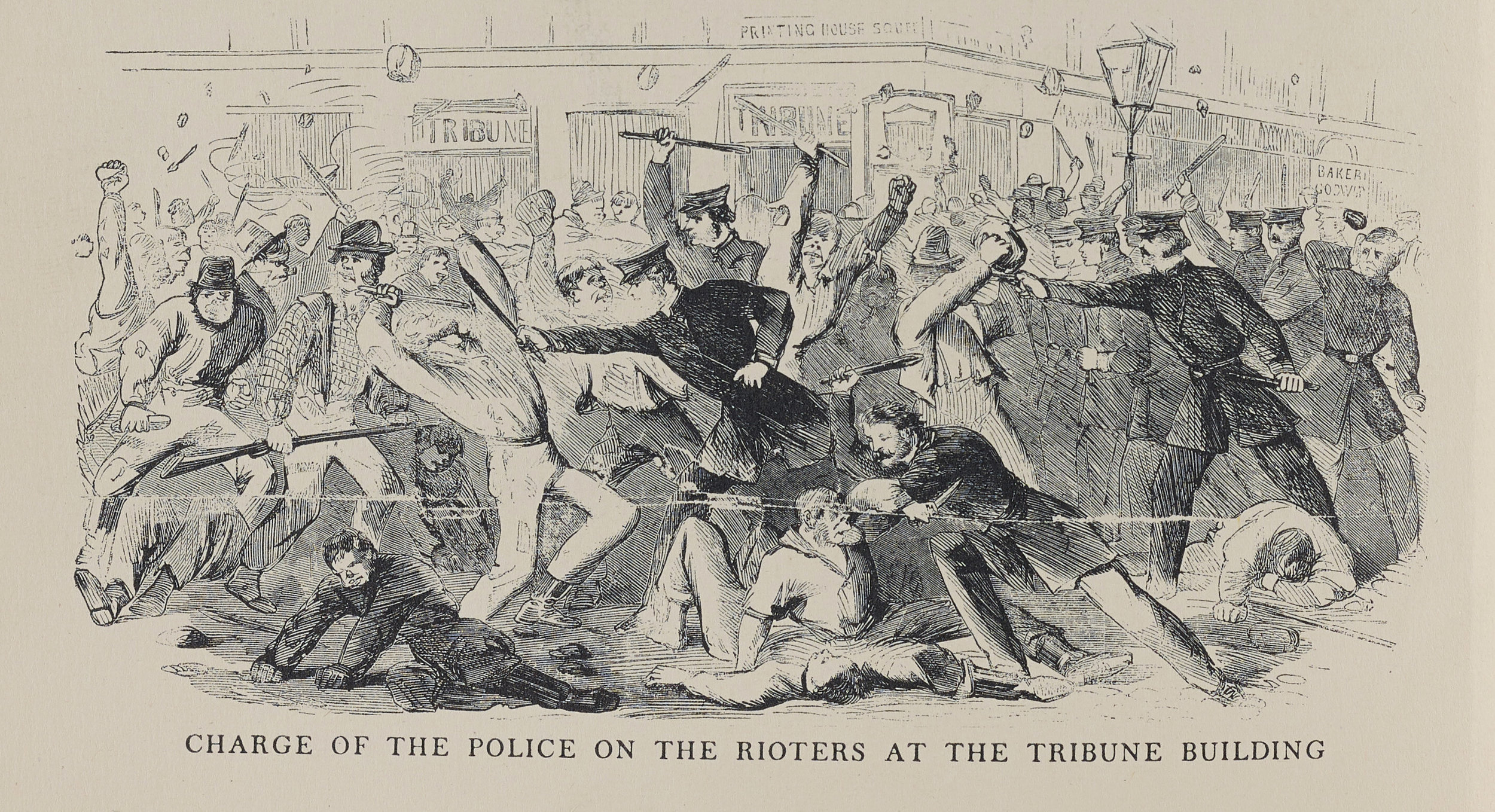 """The Draft Riots of New York, July 1863,"" from  The Diary of George Templeton Strong , NYC Municipal Library."