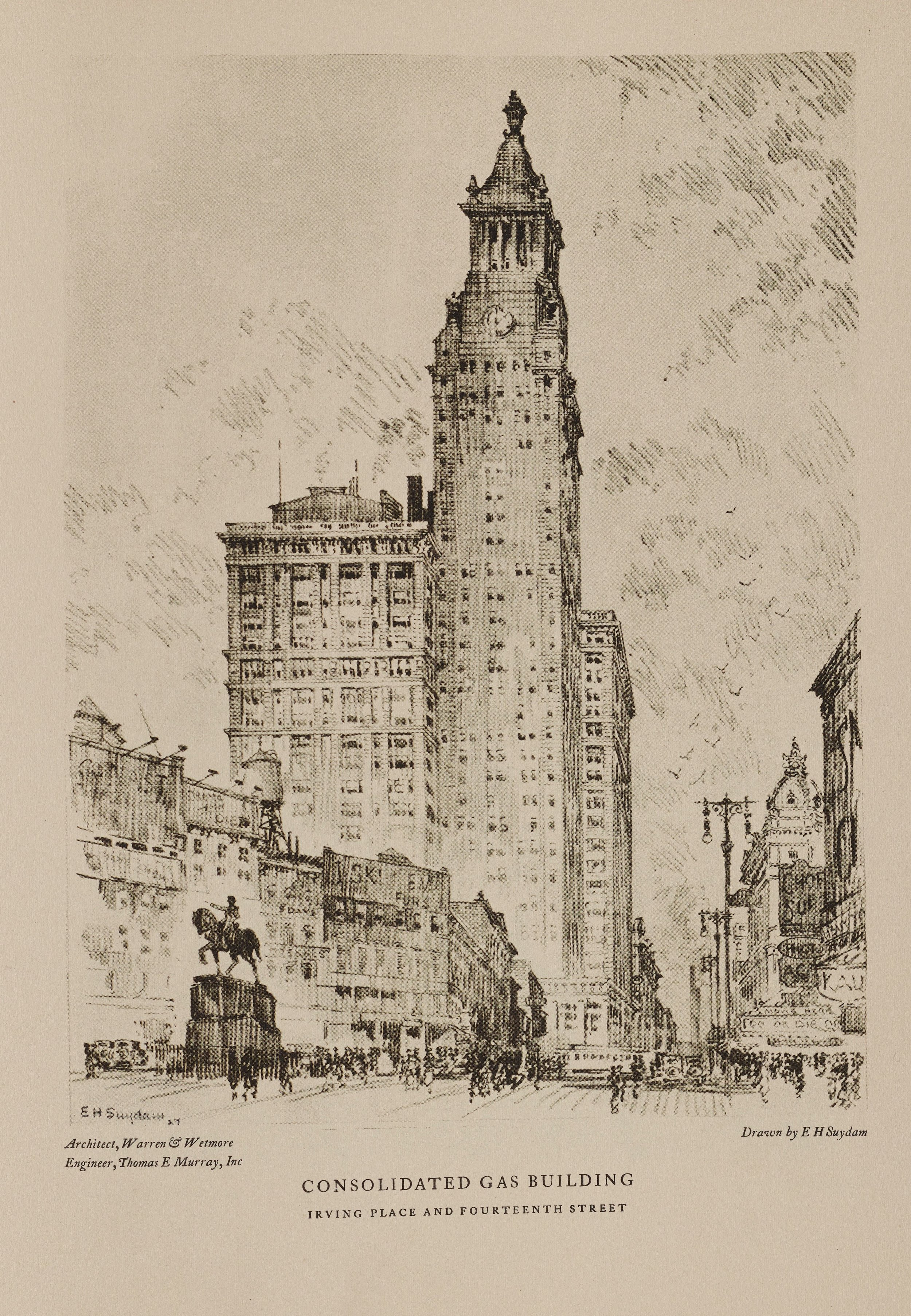 Illustrations.  Towers of Manhattan , The New York Edison Company, 1928. Municipal Reference Library