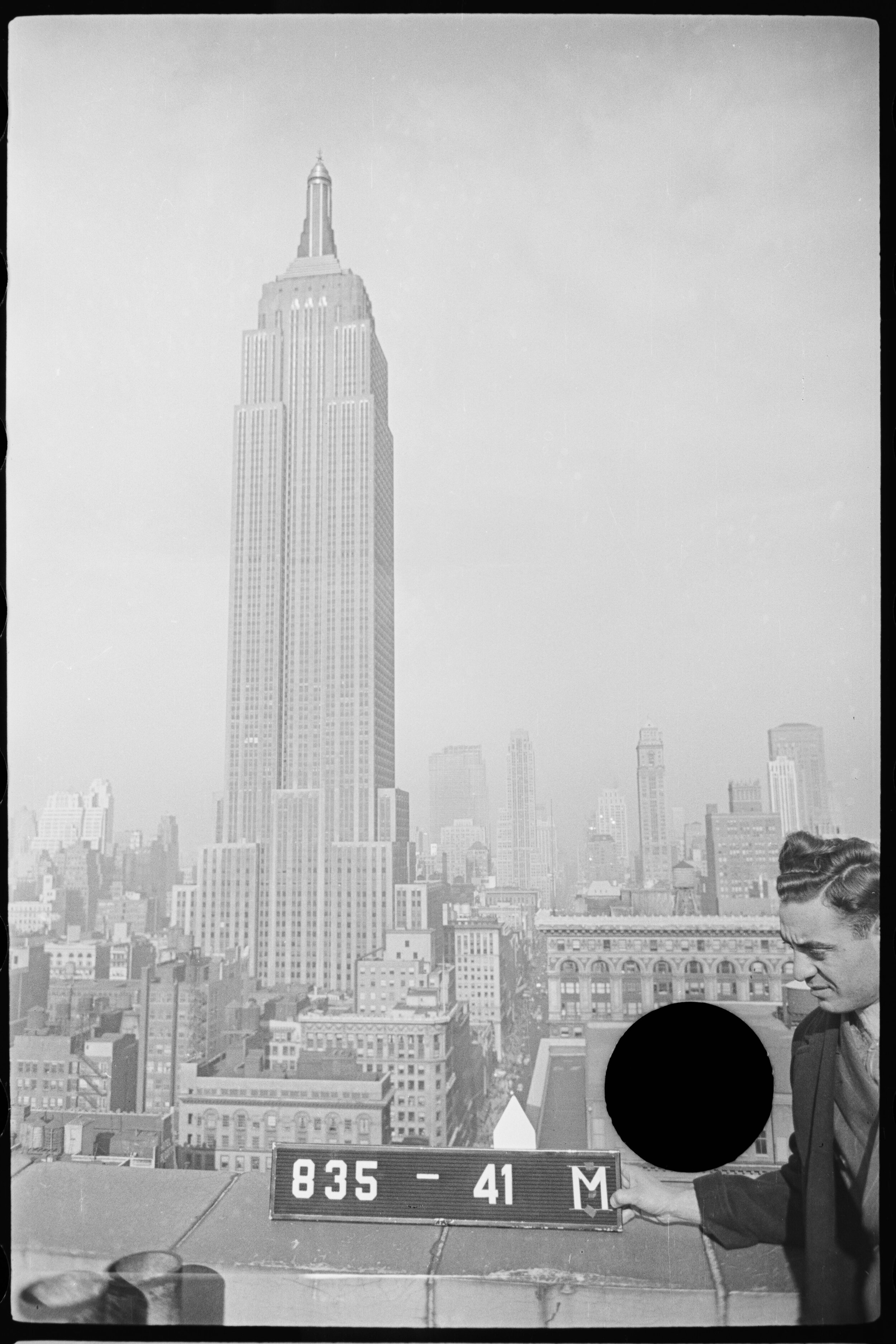 The Empire State Building as it was in 1940, with a much shorter midtown. Department of Finance Tax Photo Collection.