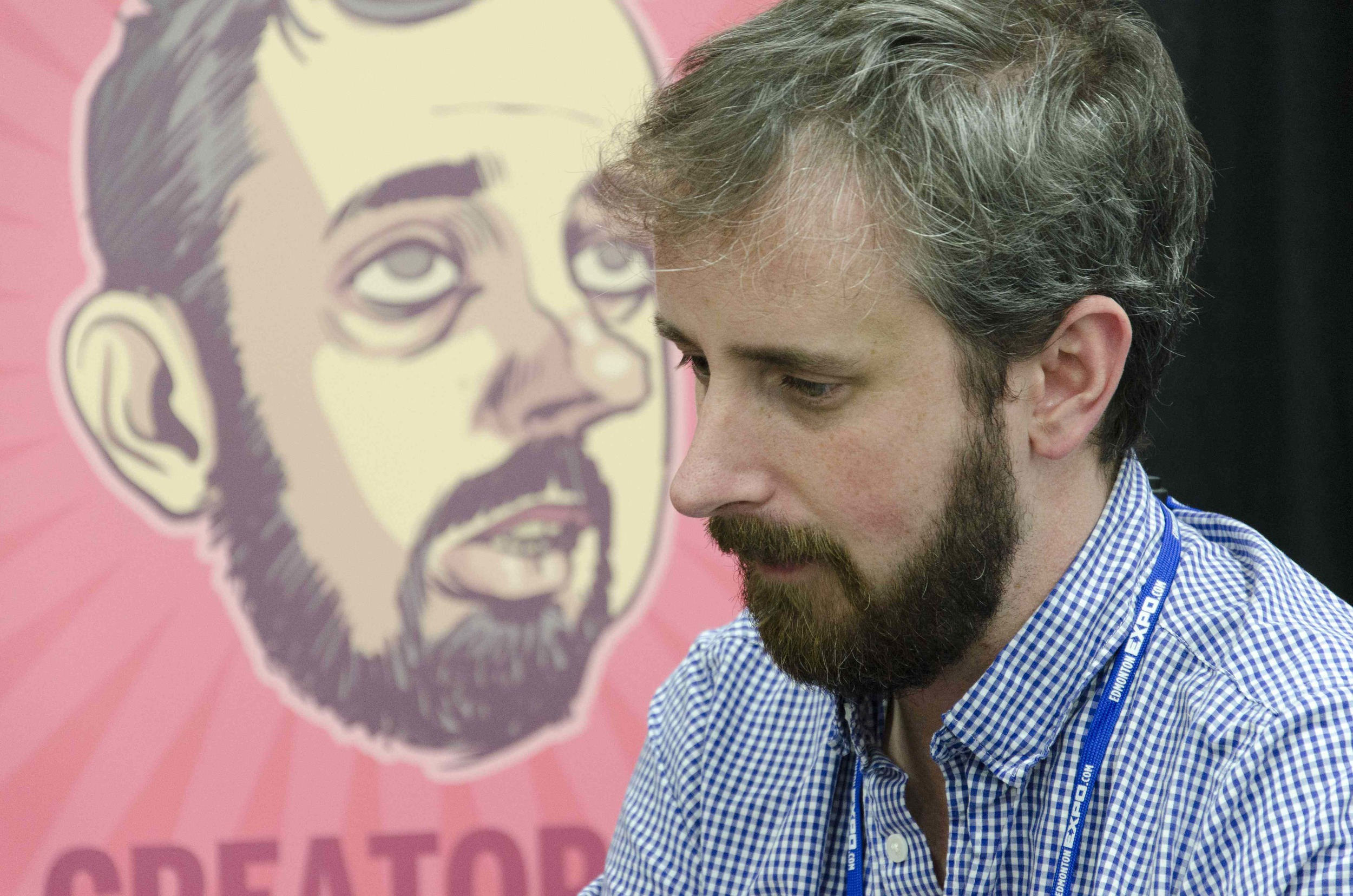 Sex Criminals and soon-to-be Howard the Duck artist,Chip Zdarsky, at the 2014 Edmonton Expo.