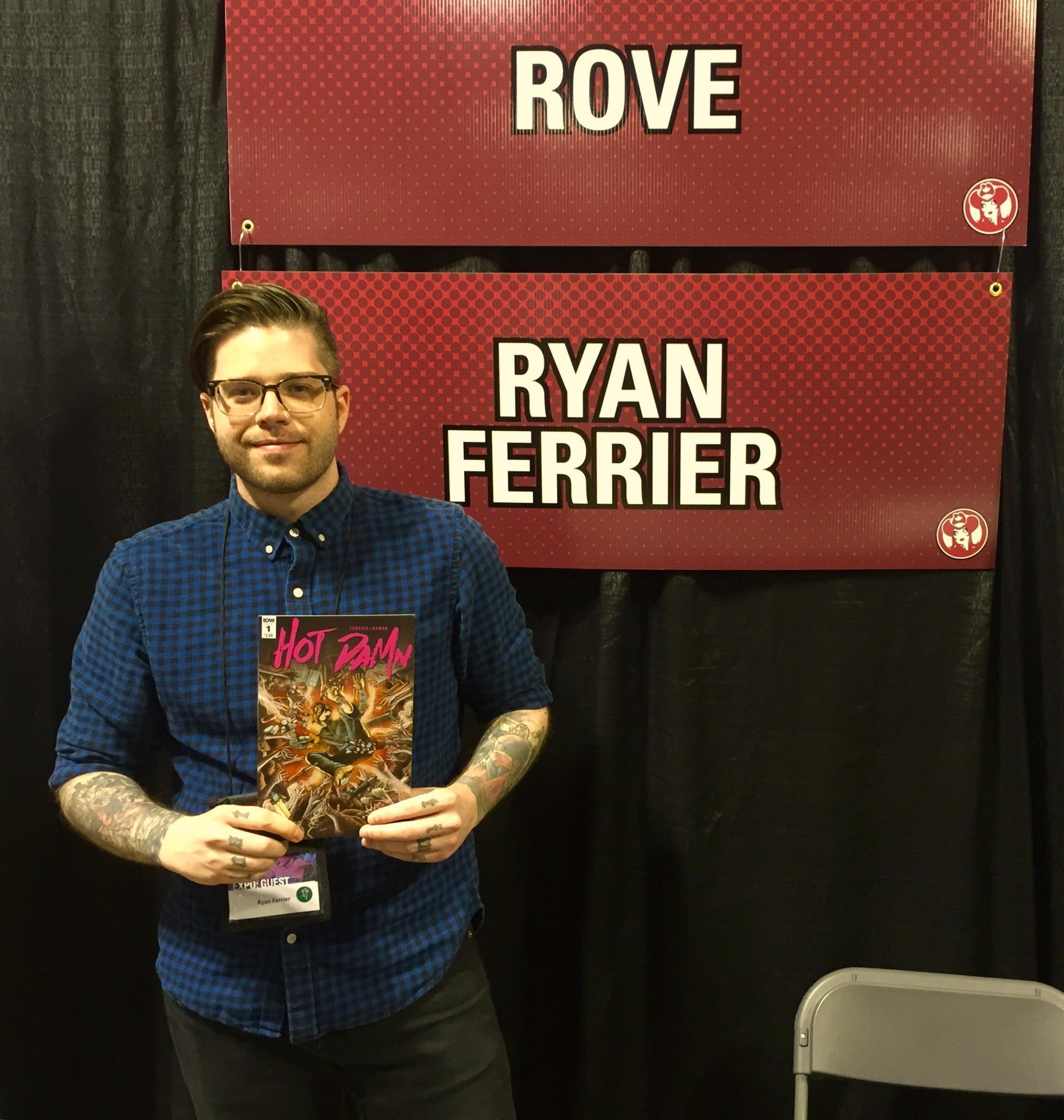 Ryan Ferrier at the 2016 Calgary Expo. (Photo credit: Chris Doucher/GeekNerdNet)