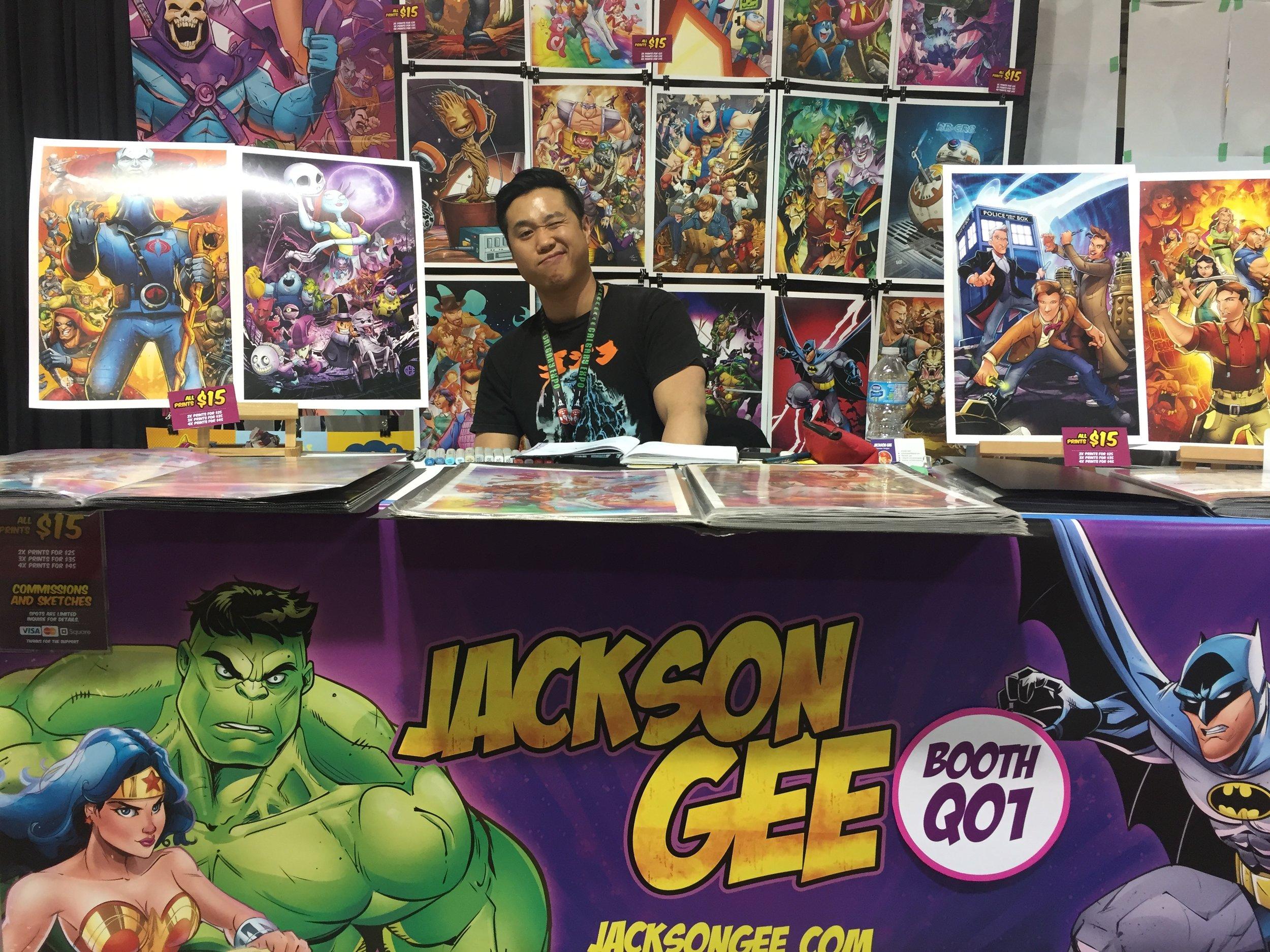 Jackson Gee - Booth Q01  (Photo credit: Chris Doucher/GeekNerdNet.com)