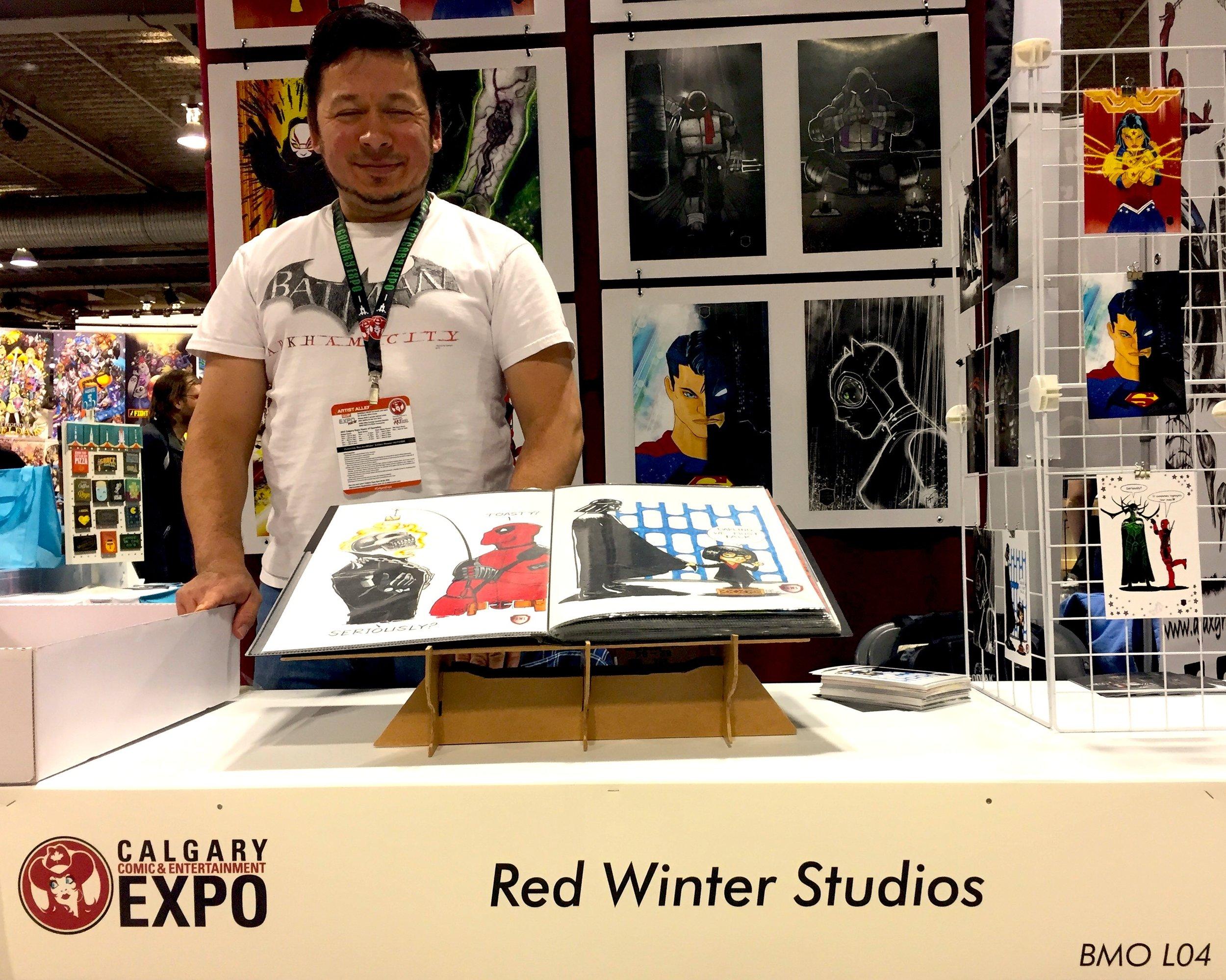 Red Winter Studios - Booth L04 (Photo credit: Chris Doucher/GeekNerdNet.com)