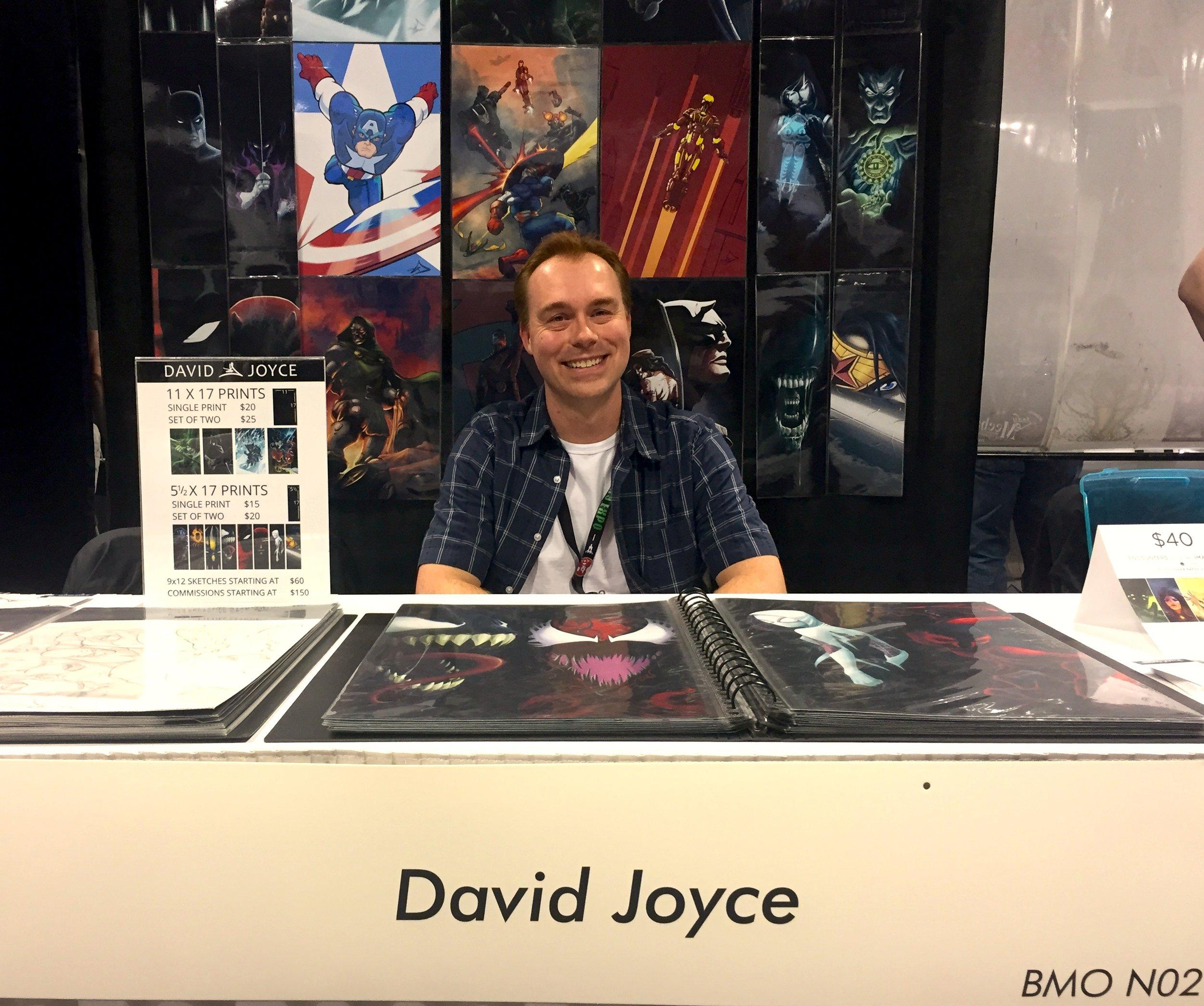 David Joyce - Booth N02  (Photo credit: Chris Doucher/GeekNerdNet.com)