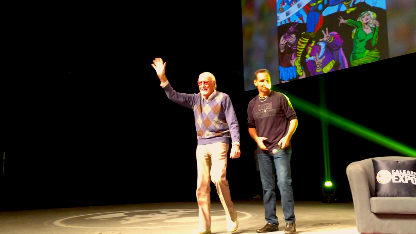 Stan Lee and Todd McFarlane at the 2017 Calgary Expo.  (Photo credit: Chris Doucher/GeekNerdNet.com)