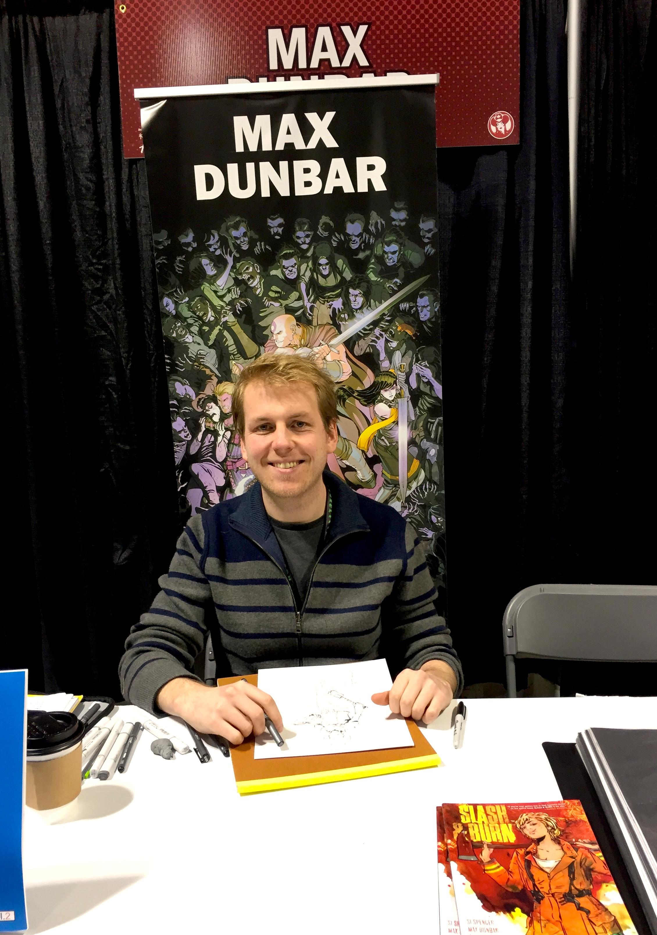 Artist Max Dunbar at the 2017 Calgary Expo   (Photo credit: Chris Doucher/GeekNerdNet.com)