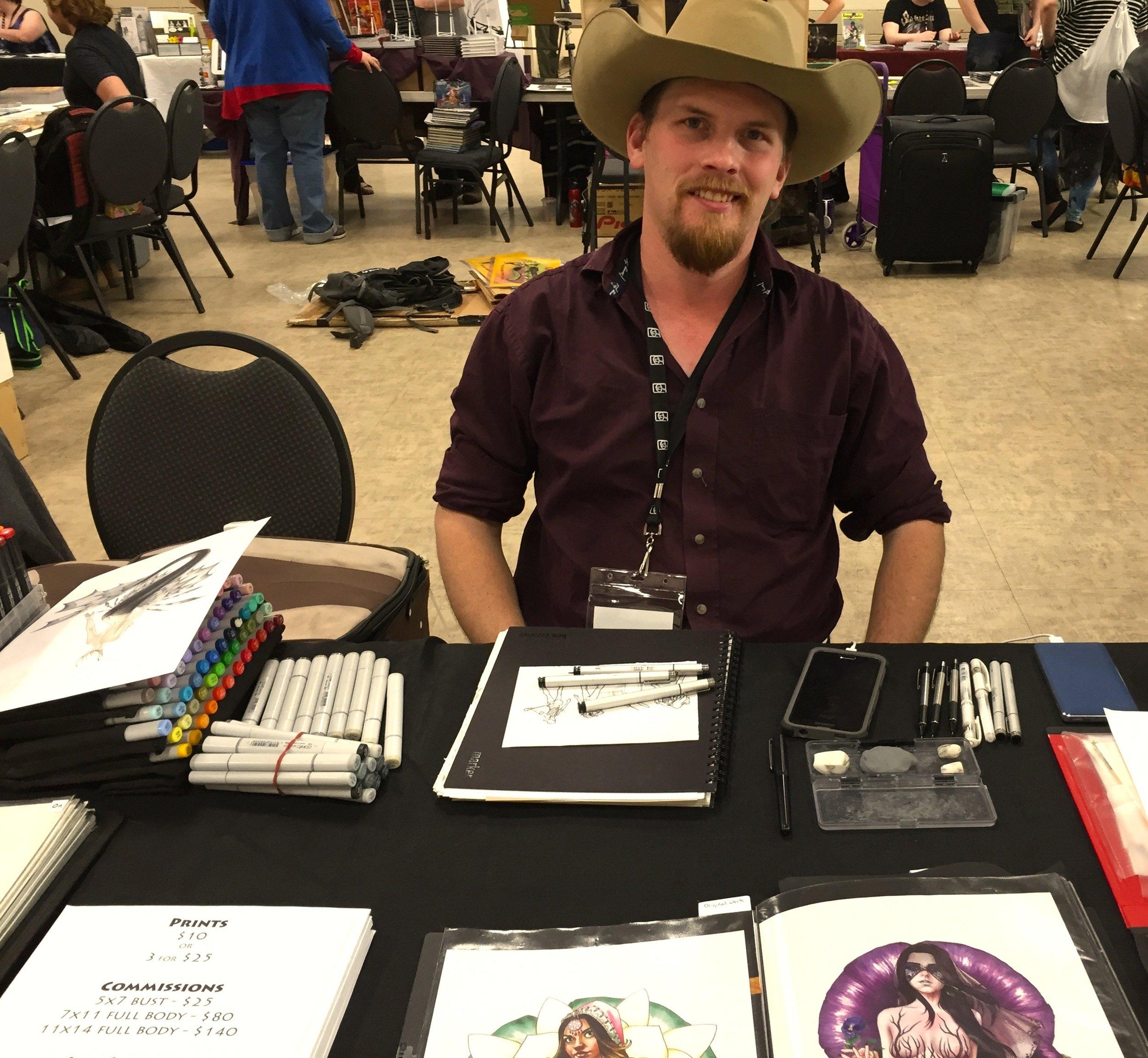 Artist Daniel Schneider at the 2017 Panel One Comic Creator Festival  (Photo credit: Chris Doucher, GeekNerdNet.com)
