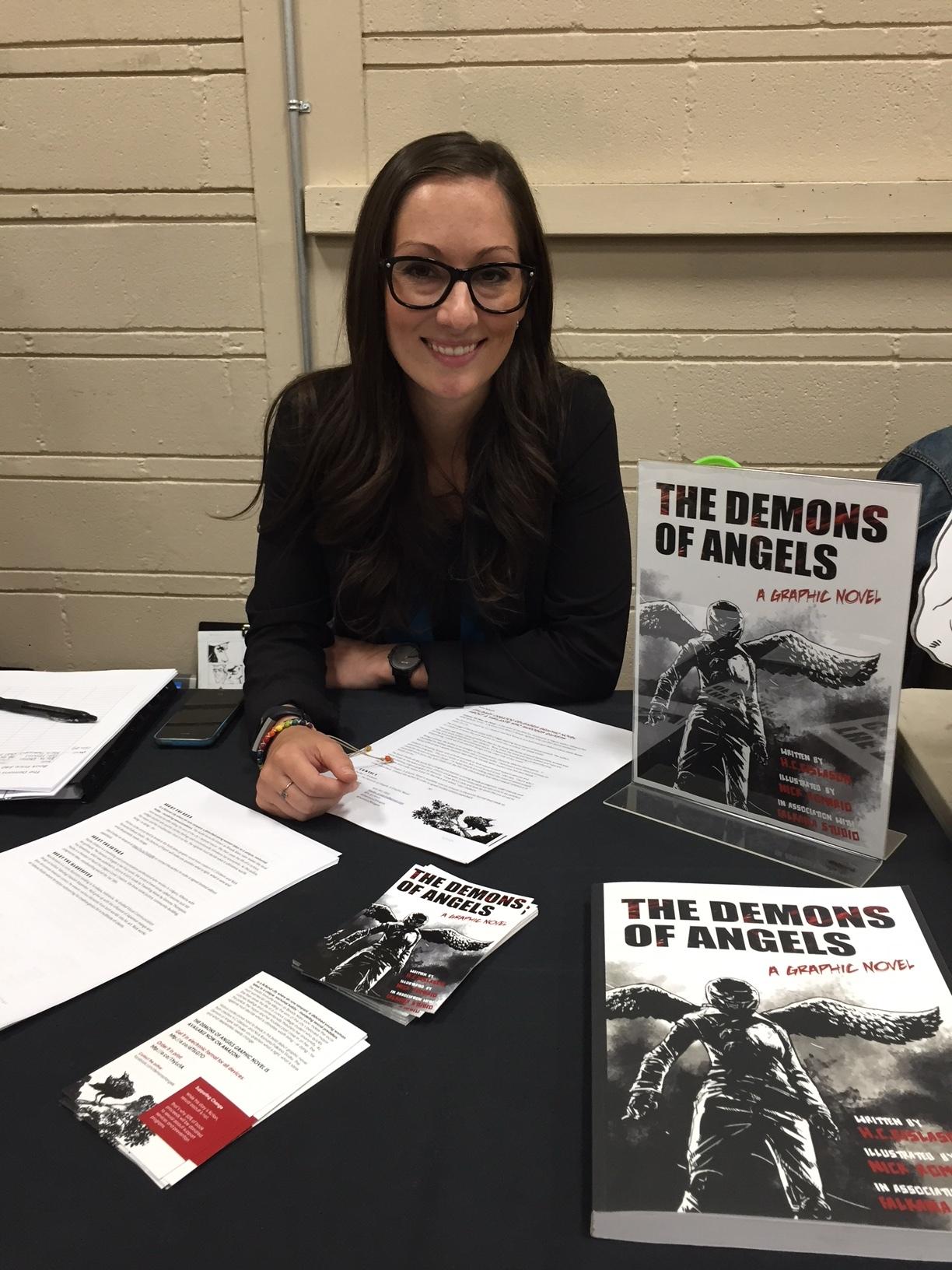 The Demons of Angels writer, H.C. Gislason at the 2018 Panel One Comic Creator Festival. ( Photo credit: Chris Doucher/GeekNerdNet.com )