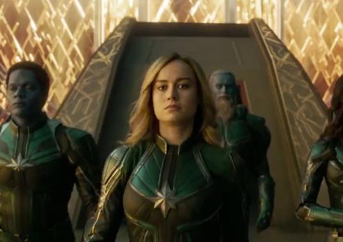 Brie Larson as Captain Marvel.  (   Photo credit:    Twitter account for Captain Marvel -    @captainmarvel   )