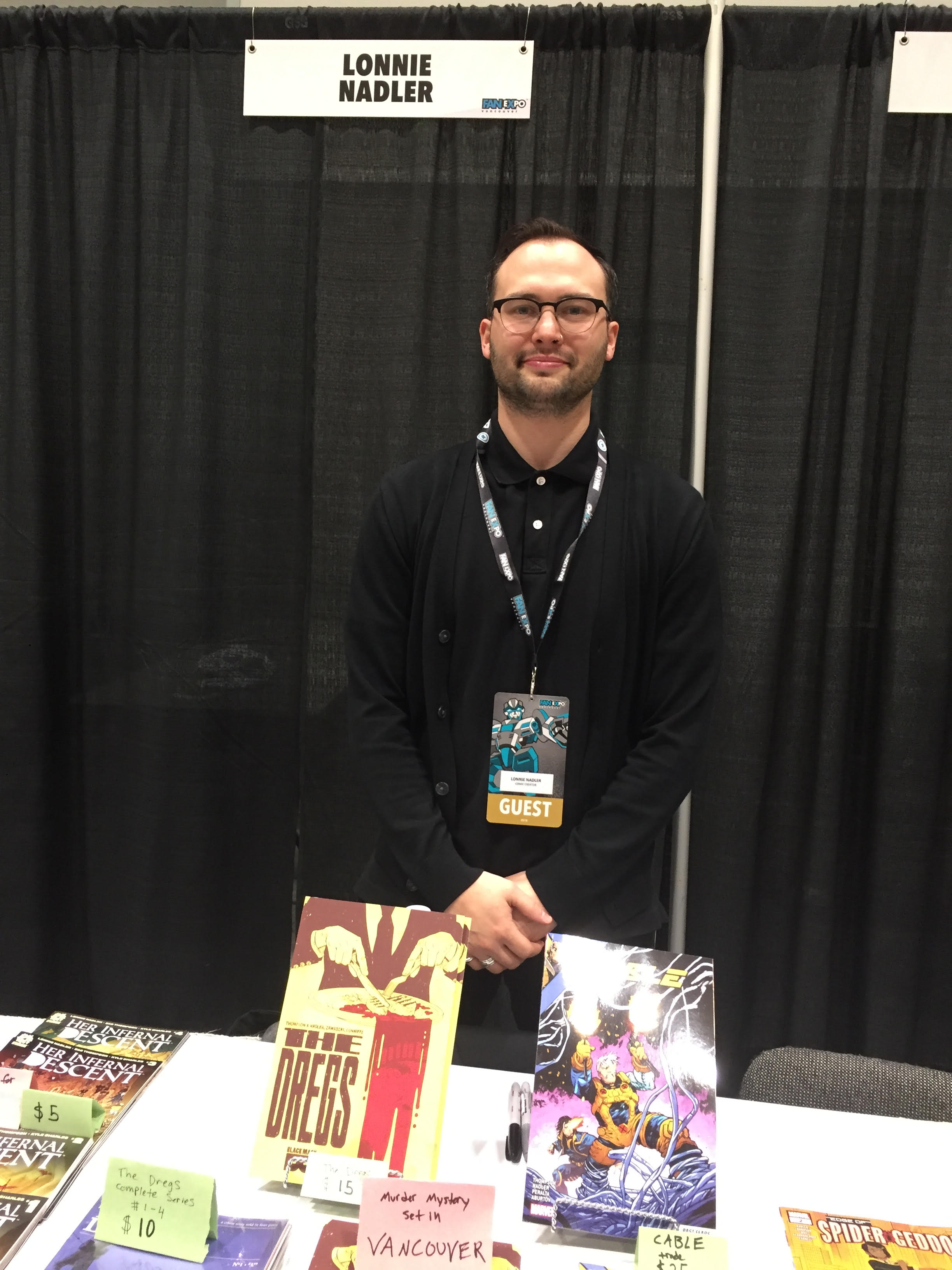 Writer, Lonnie Nadler, at Fan Expo Vancouver 2018.   (Photo credit: Chris Doucher/GeekNerdNet)