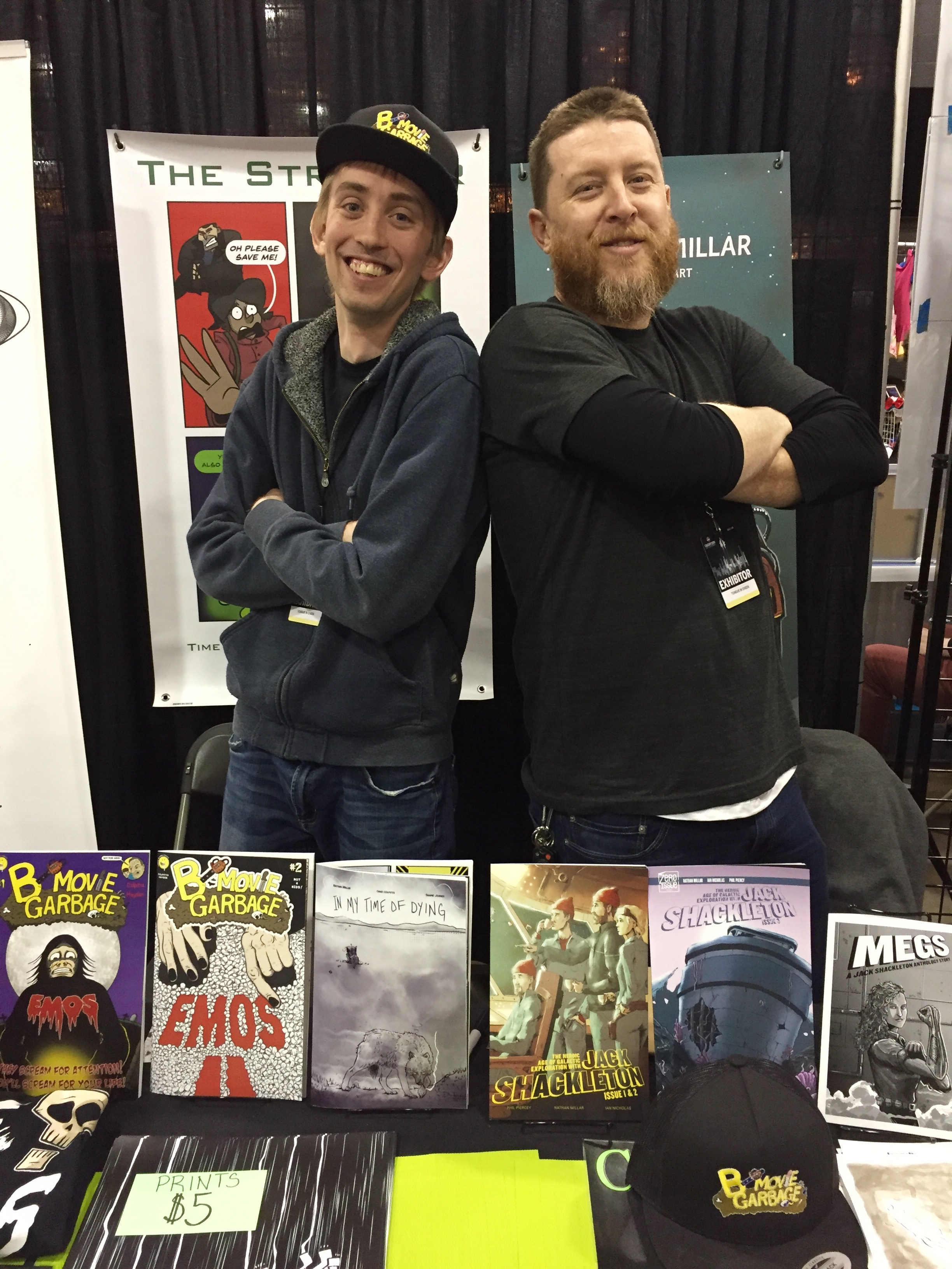 Chad Colpitts (left) and Nathan Millar at the 2019 Calgary Expo  ( Photo credit: Chris Doucher/GeekNerdNet.com )
