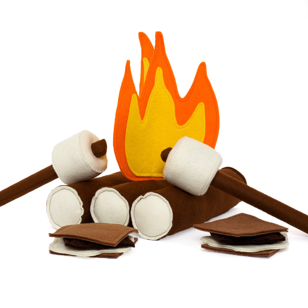 Felt campfire set by Moose and Mouse