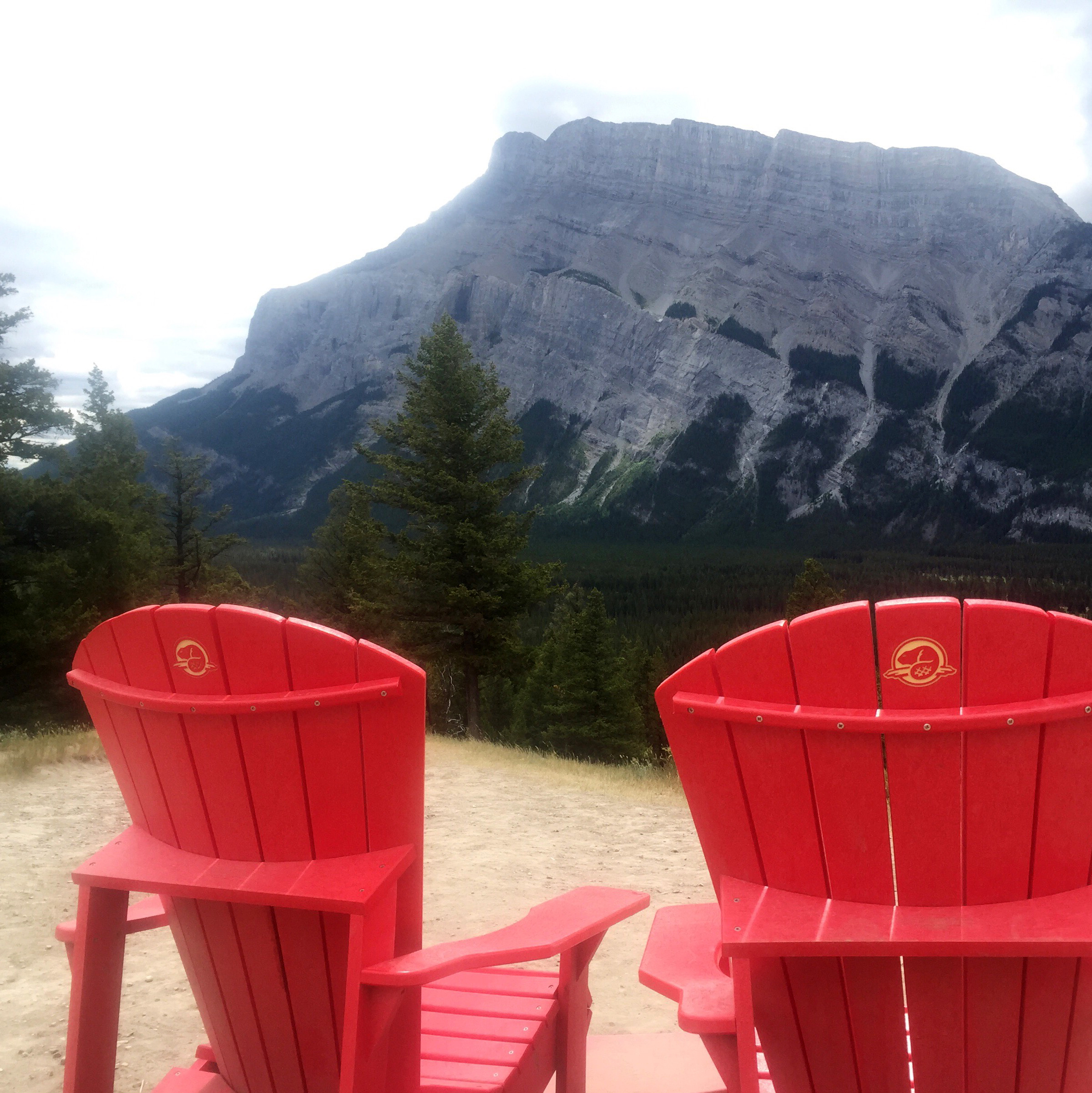 Parks Canada chairs overlooking Mount Rundle #sharethechair