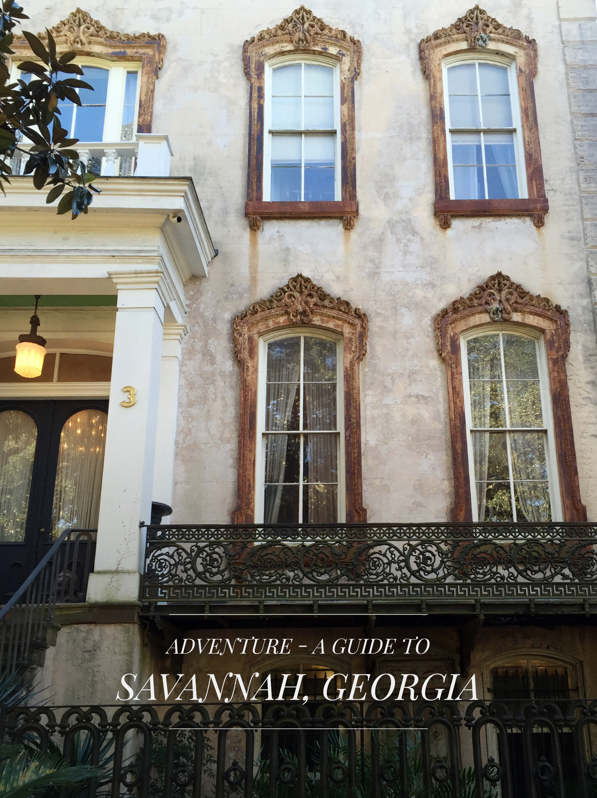Beautiful architecture in the Historic District of Savannah, Georgia.