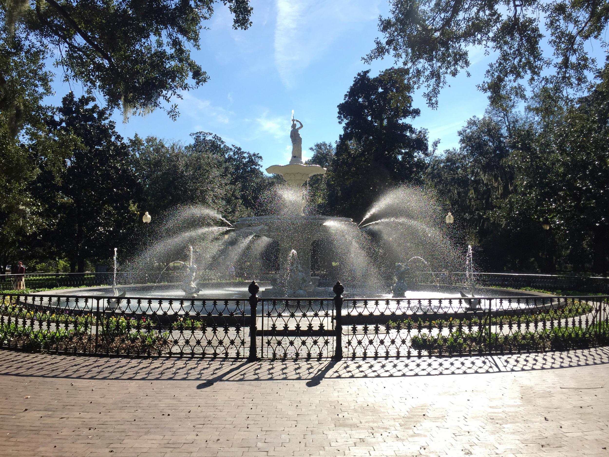 Fountain at Forsyth Park.