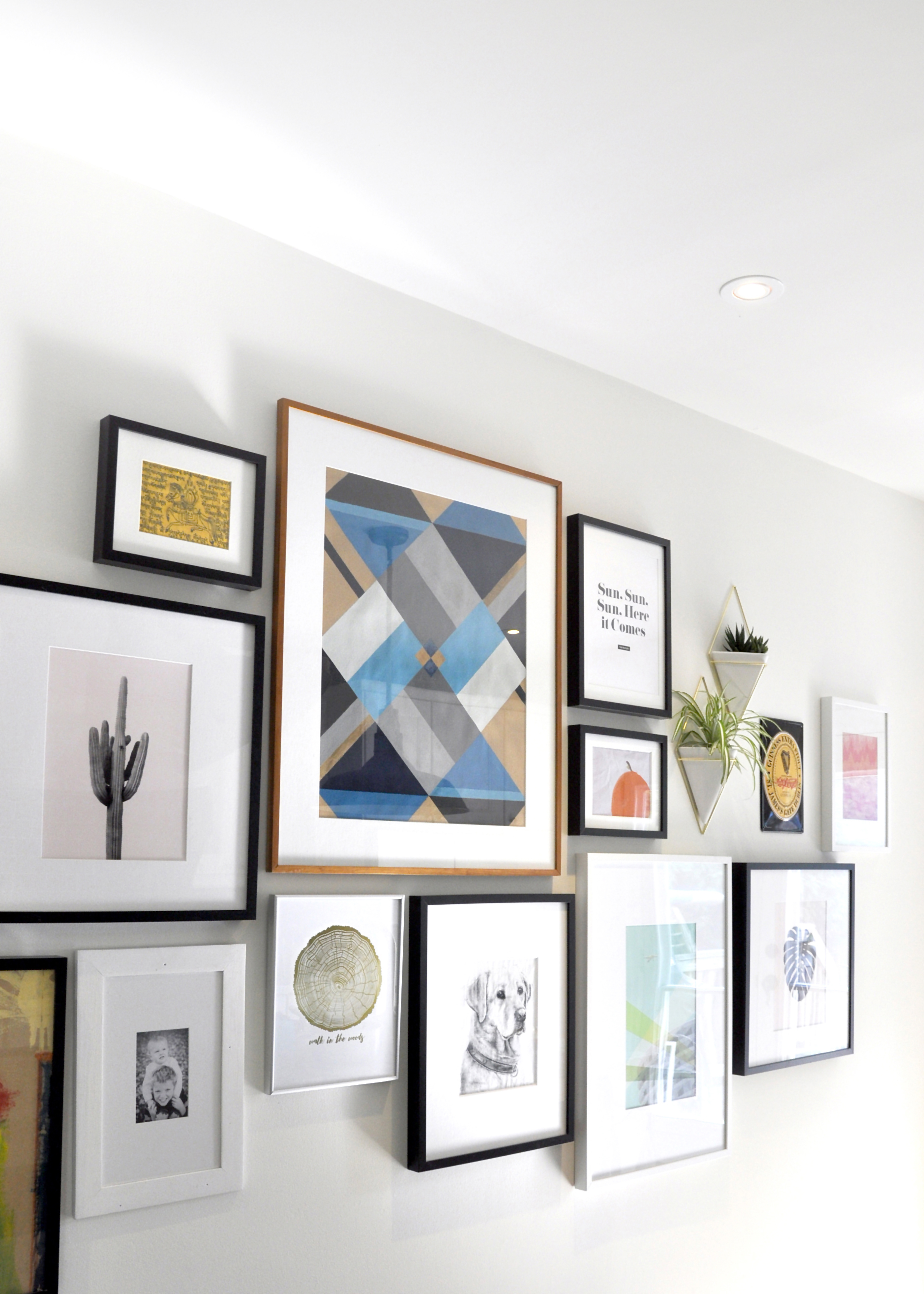 Gallery wall styling by Julie Taylor Interiors. Photography by Swell Made Co.