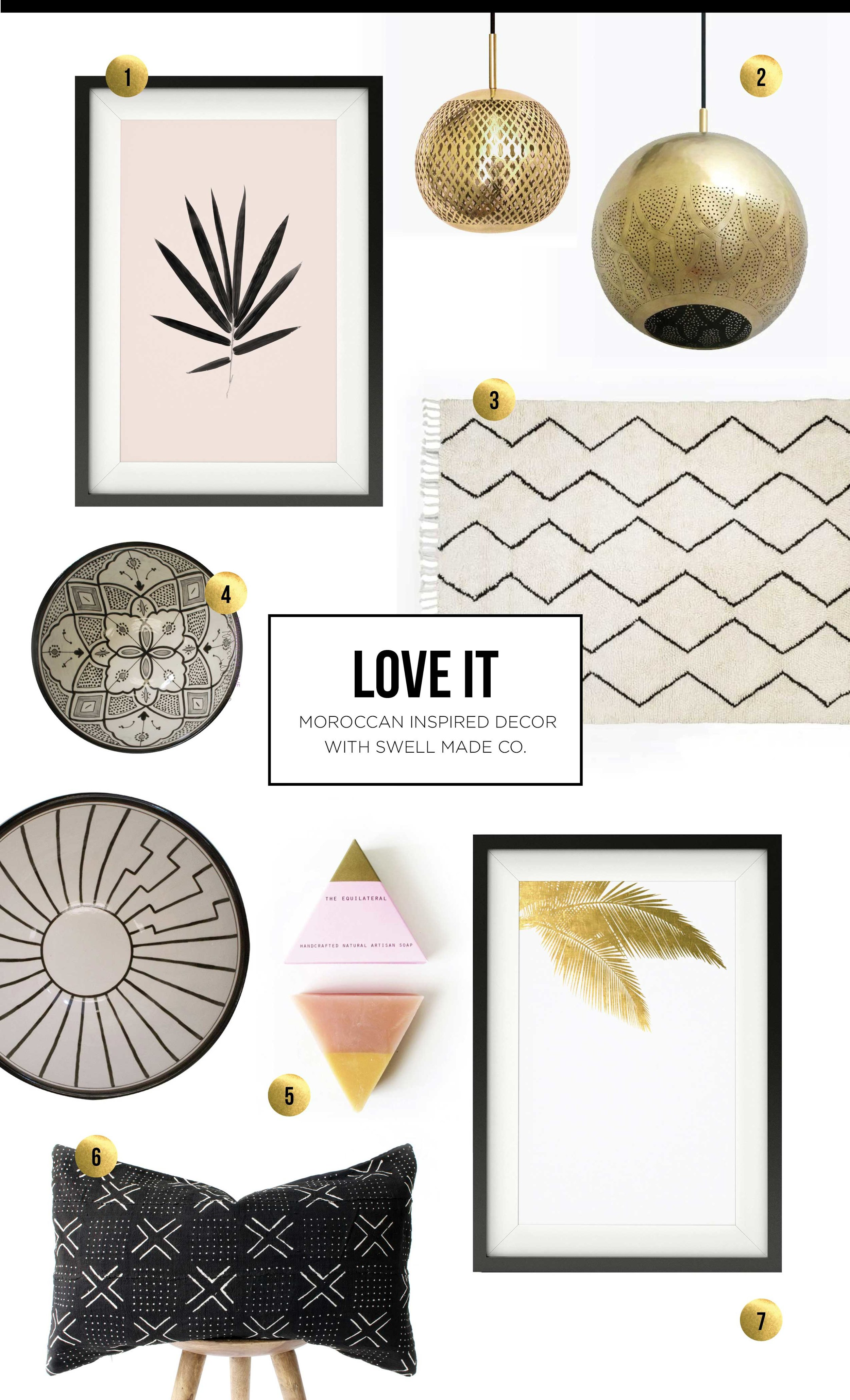 LOVE IT - Moroccan inspired decor with Swell Made Co.