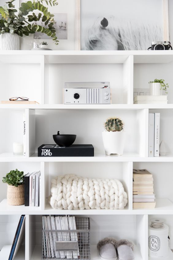 Shelf Styling in a Neutral Condo Tour