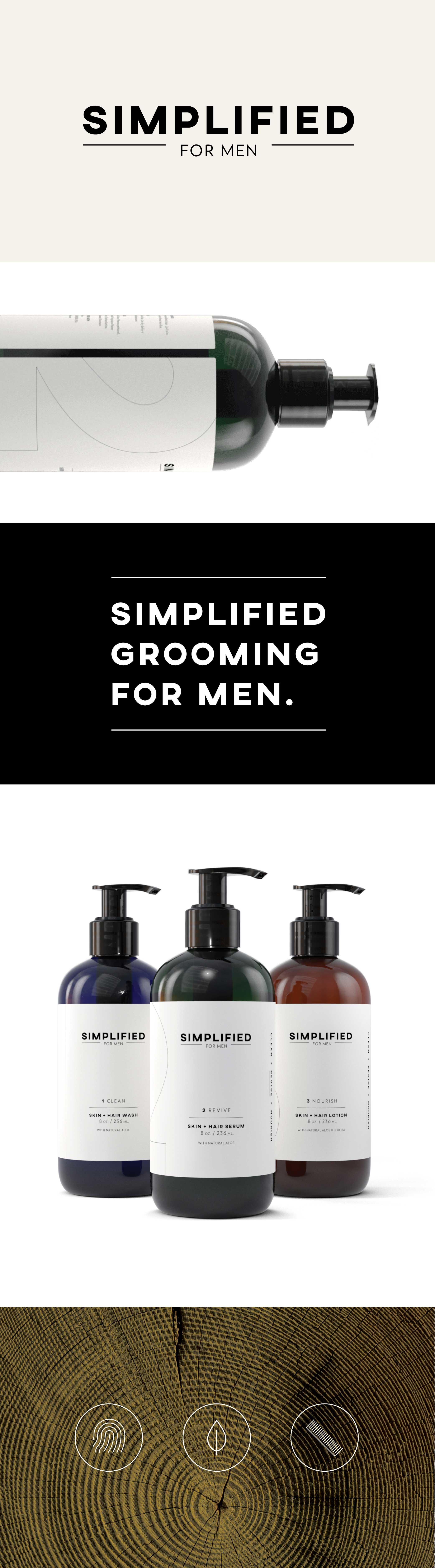 Simplified Grooming for Men | Branding + Packaging