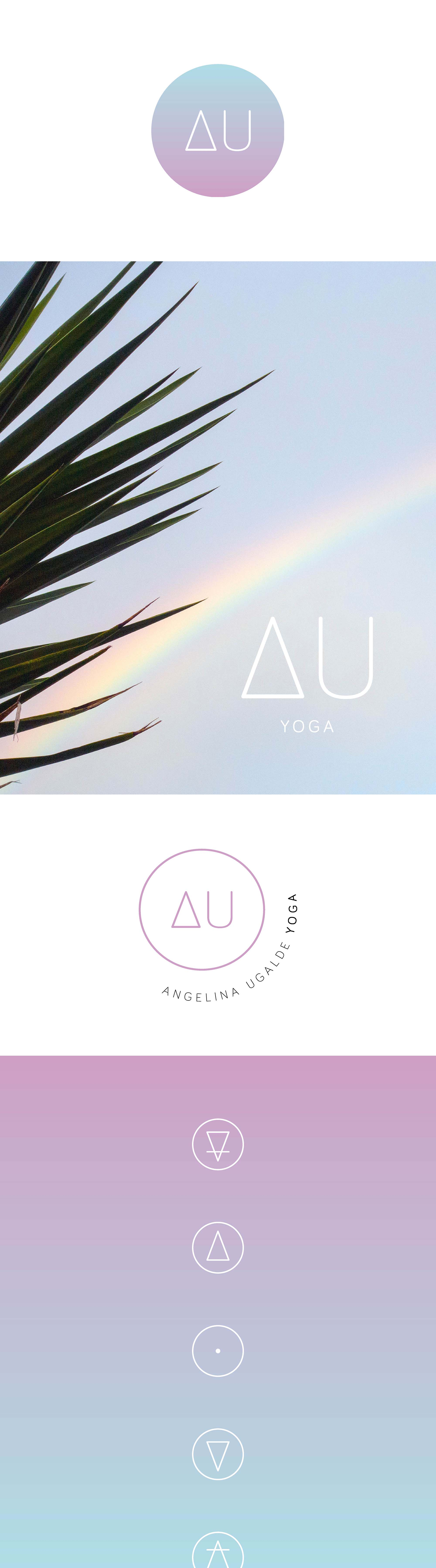 AU Yoga Conceptual Brand Development | A design project by Swell Made Co.