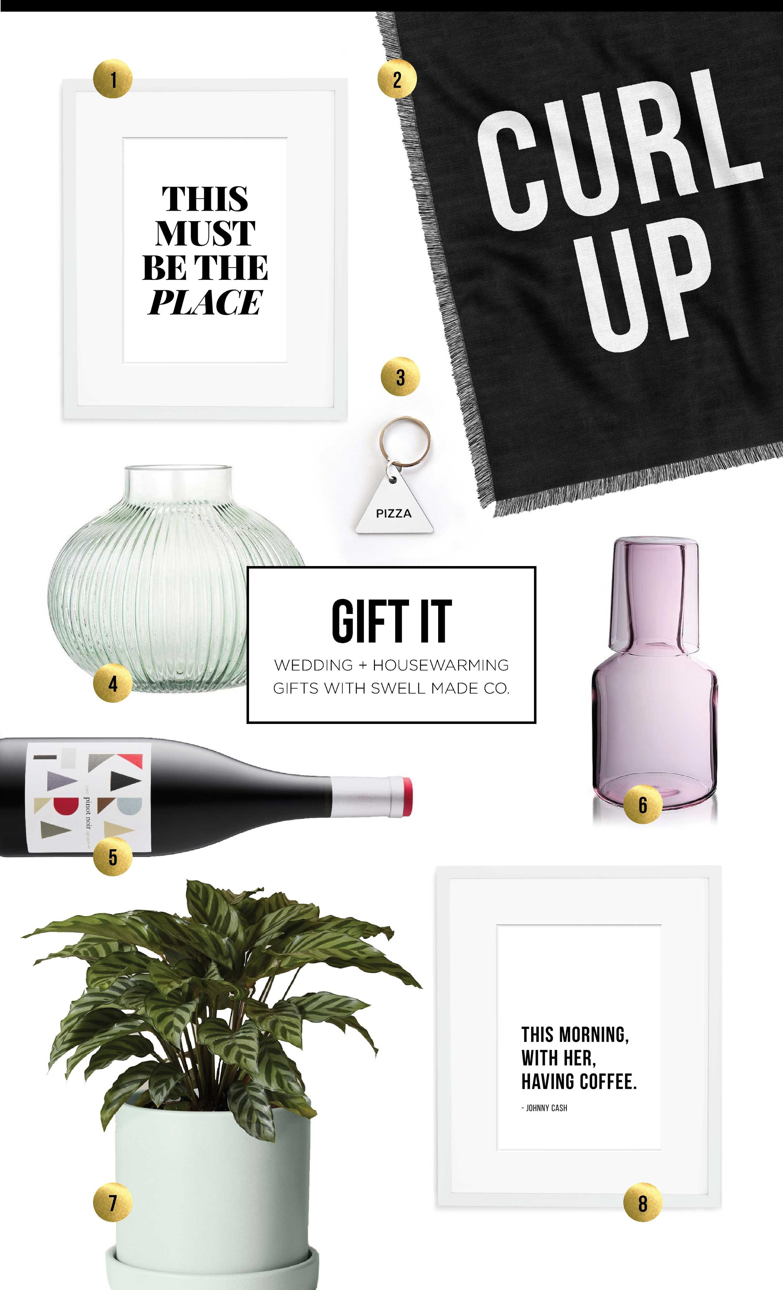 Gift It | Gift ideas for wedding and housewarming season with Swell Made Co.
