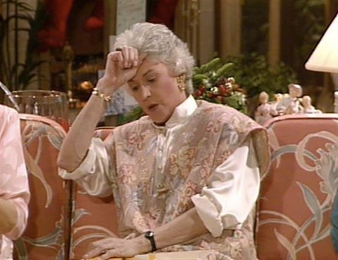 Dorothy wears a lot of what can only be described as wallpaper. 😐 #goldengirlsootd