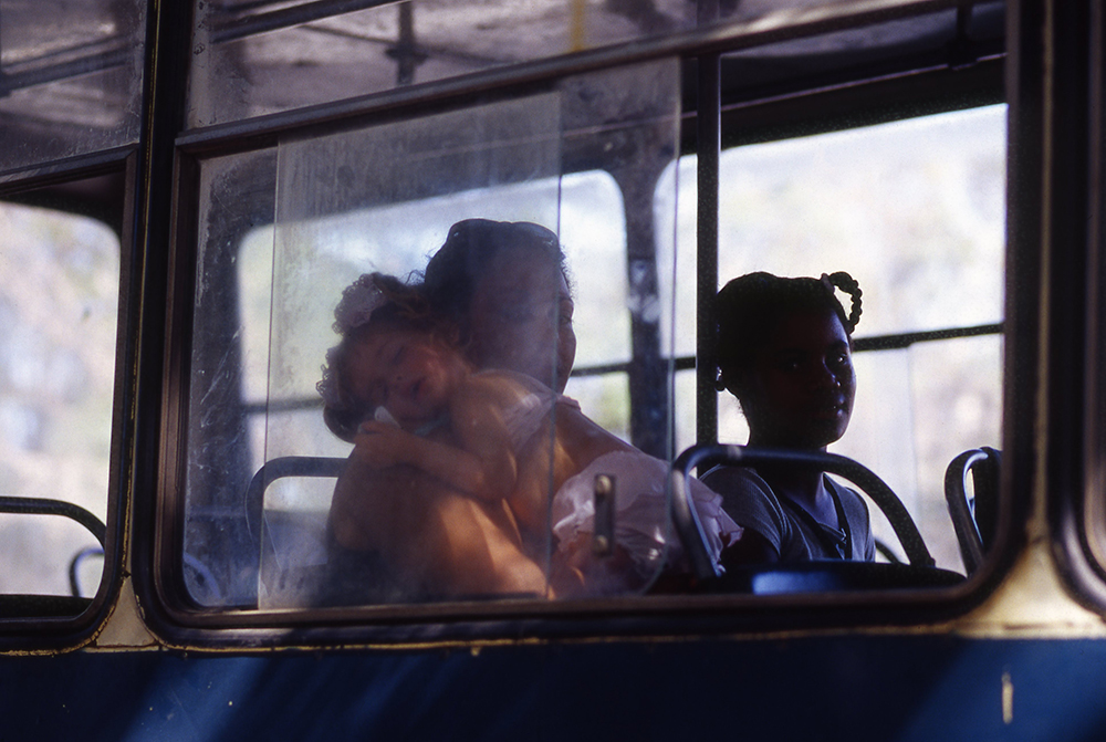 Women and Children on Bus