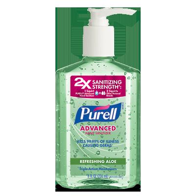 PURELL ®Advanced  Hand Sanitizer Refreshing Aloe   8 fl oz Pump Bottle