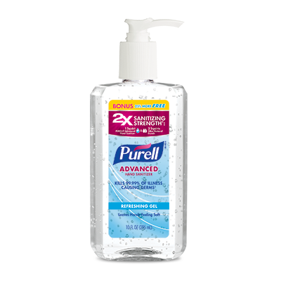 PURELL ®Advanced  Hand Sanitizer Refreshing Gel   8 fl oz + 25% Free Pump Bottle