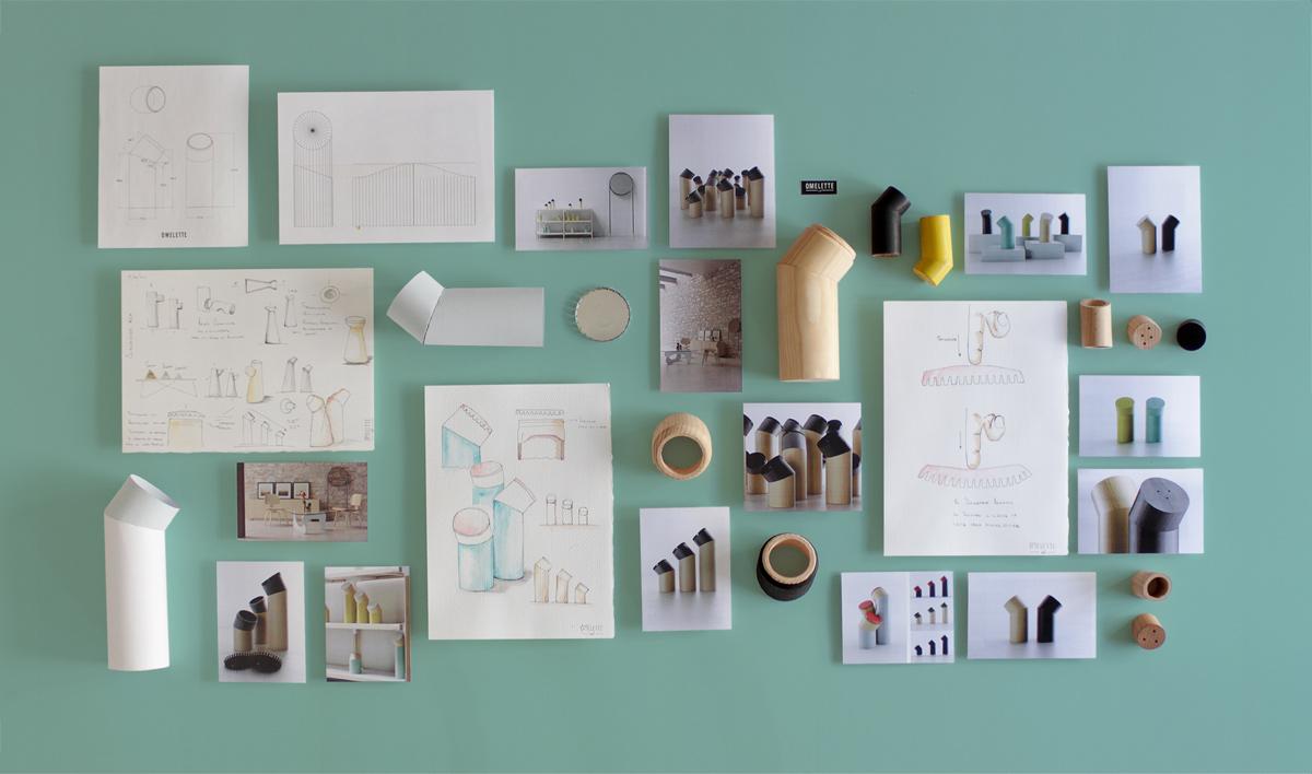 Omelette -ed- er et eksempel på en lovende designredaktør bestående av tre designere som opererer under navnetLaMamba. Her ser du skisser og prosessen bakDalton Containers.