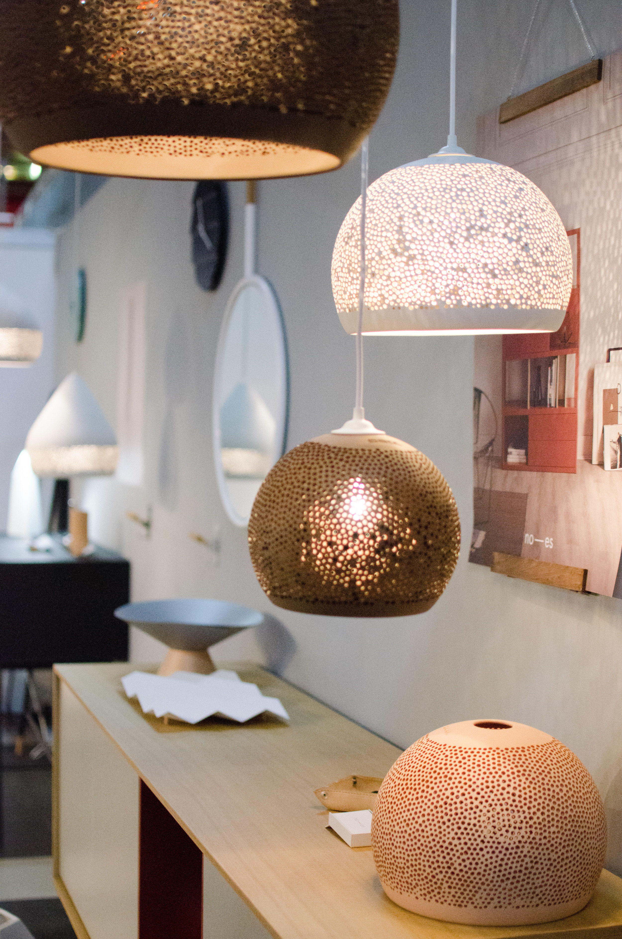 All you need is light! The beautiful handmade lamps from Pott drew a lot of attention to the stand.