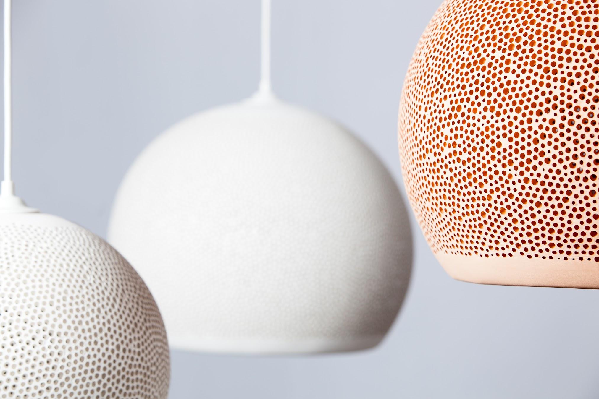 Sponge Up lampe pott terracotta