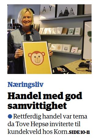 Fra lokalavisen i Sør-Trøndelag fredag