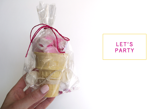 taffy cone party favor