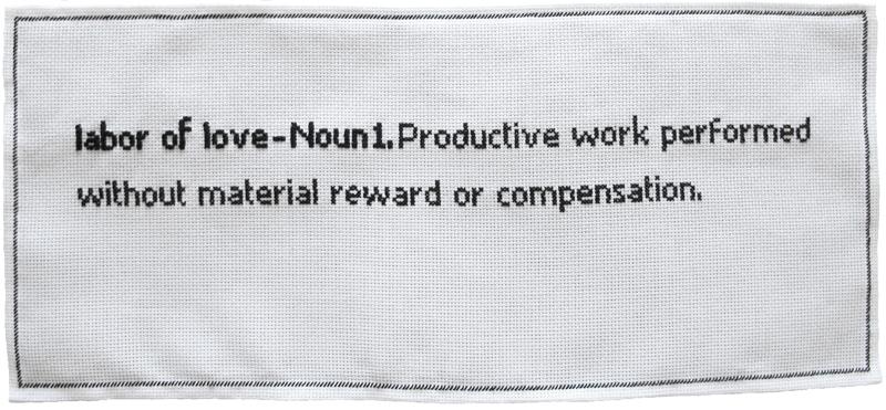 """Normal   0           false   false   false     EN-US   JA   X-NONE                                                                                                                                                                                                                                                                                                                                                                              /* Style Definitions */ table.MsoNormalTable {mso-style-name:""""Table Normal""""; mso-tstyle-rowband-size:0; mso-tstyle-colband-size:0; mso-style-noshow:yes; mso-style-priority:99; mso-style-parent:""""""""; mso-padding-alt:0cm 5.4pt 0cm 5.4pt; mso-para-margin:0cm; mso-para-margin-bottom:.0001pt; mso-pagination:widow-orphan; font-size:12.0pt; font-family:Cambria; mso-ascii-font-family:Cambria; mso-ascii-theme-font:minor-latin; mso-hansi-font-family:Cambria; mso-hansi-theme-font:minor-latin;}      artist/mother  (2011), Irene Pérez.Cross-stitch work."""