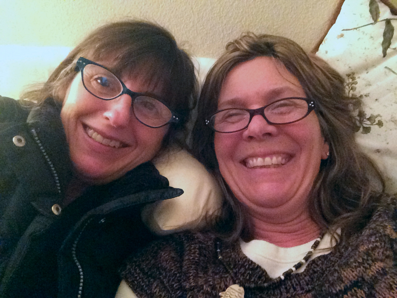 My friend Sandra and I snapped a photo after having one of our solve-the-problems-of-the-world conversations.