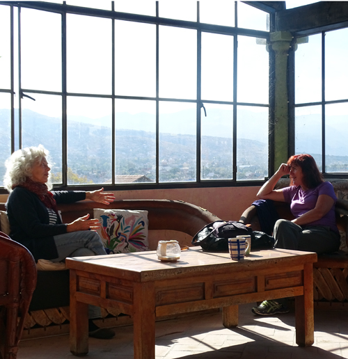 It didn't take long for Katharine and I to be engulfed in an interesting conversation, high above San Miguel de Allende in their rooftop space.