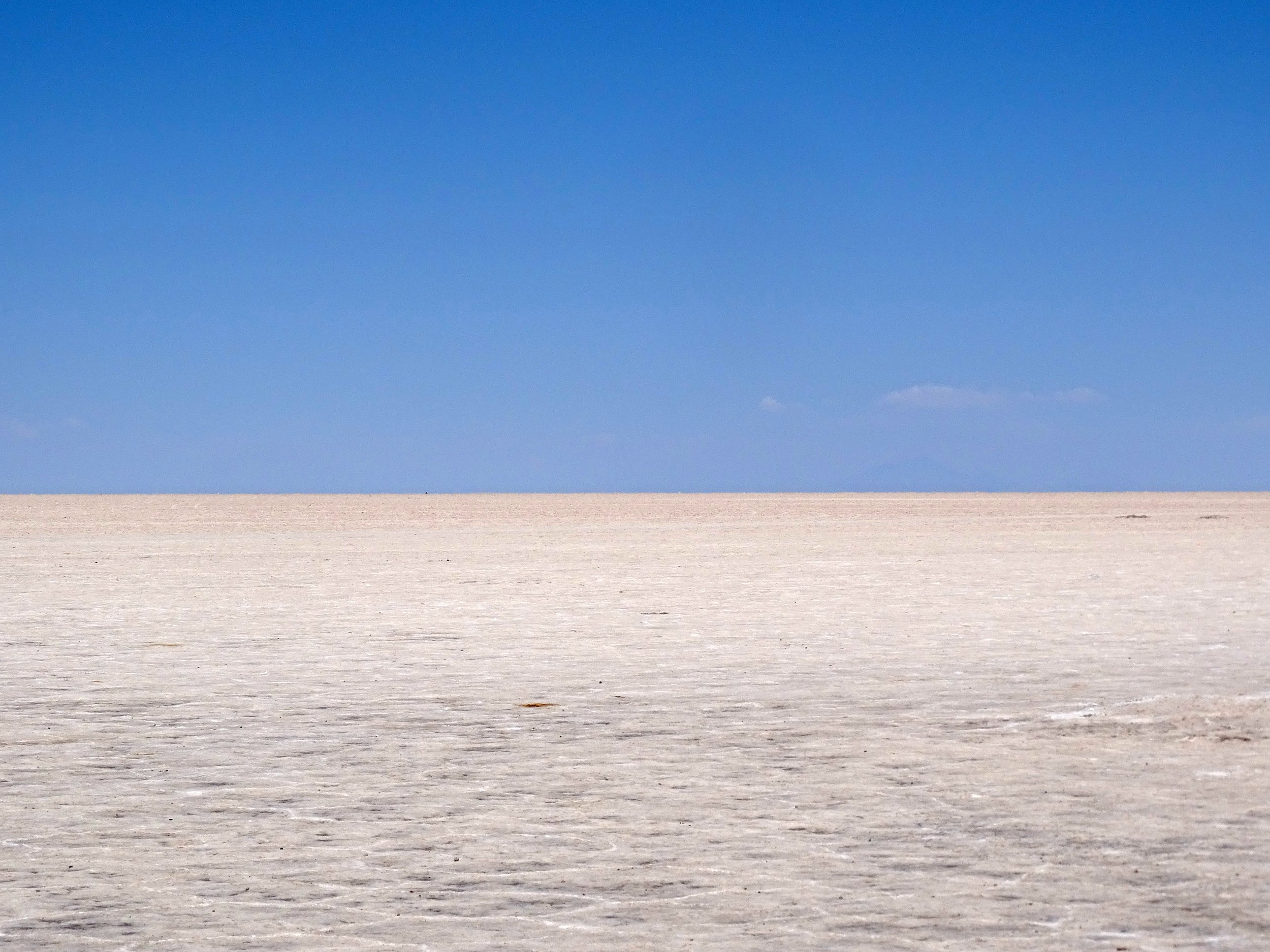 The vast simplicity of the Salar de Uyuni in Bolivia is one of my favorite spots.