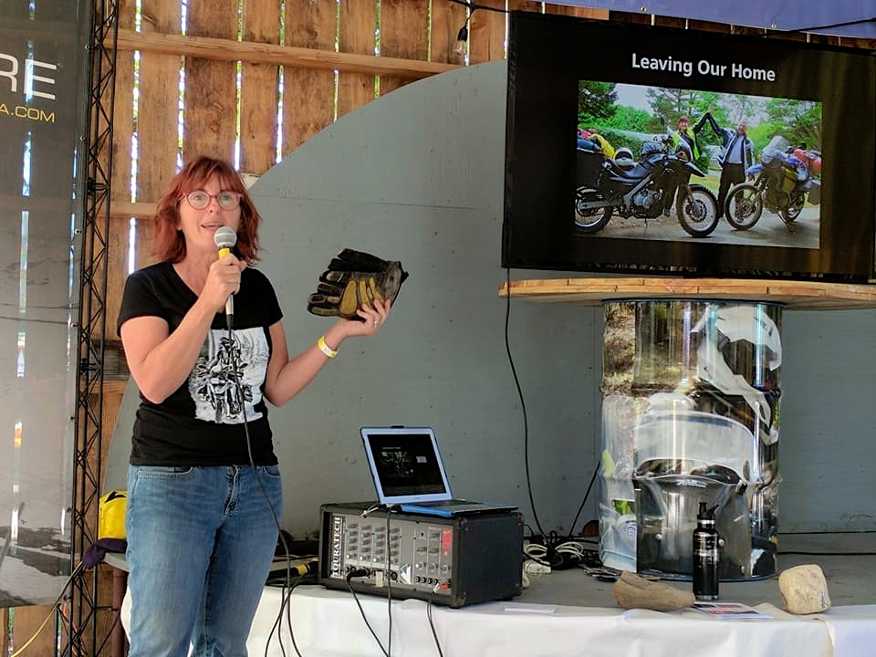 Presentation at the Tour Tech Motorcycle Rally in Plains, WA.