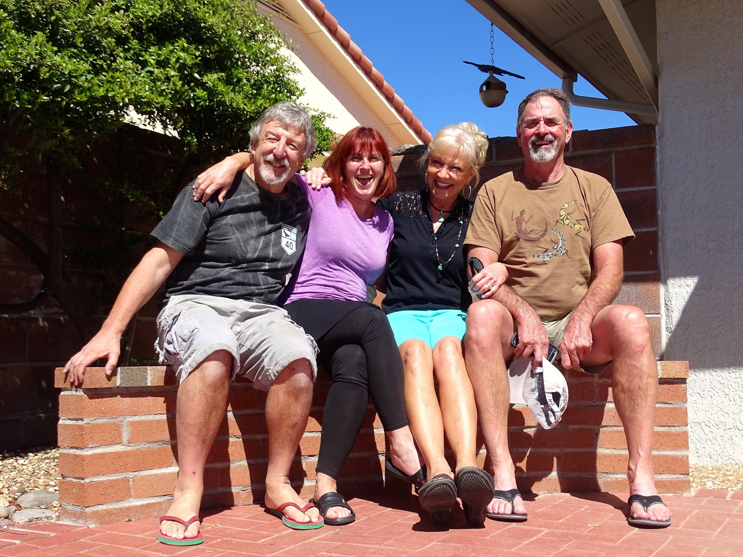 Keith, me, Cindy, and her husband Kevin at their home in Tucson.
